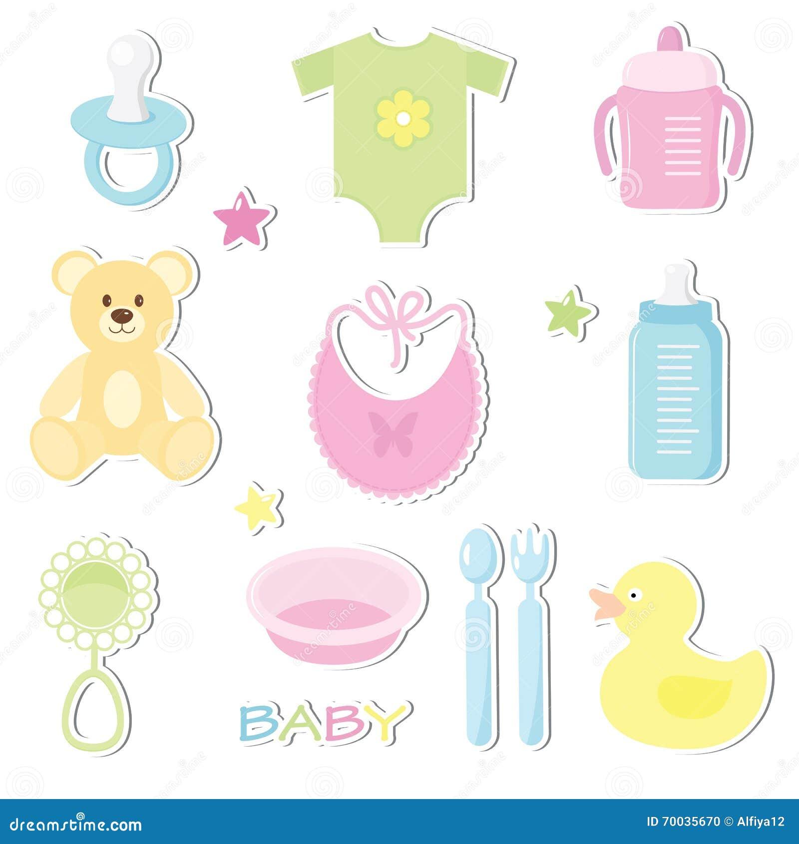 Newborn Baby Stickers Cartoon Vector Cartoondealer Com