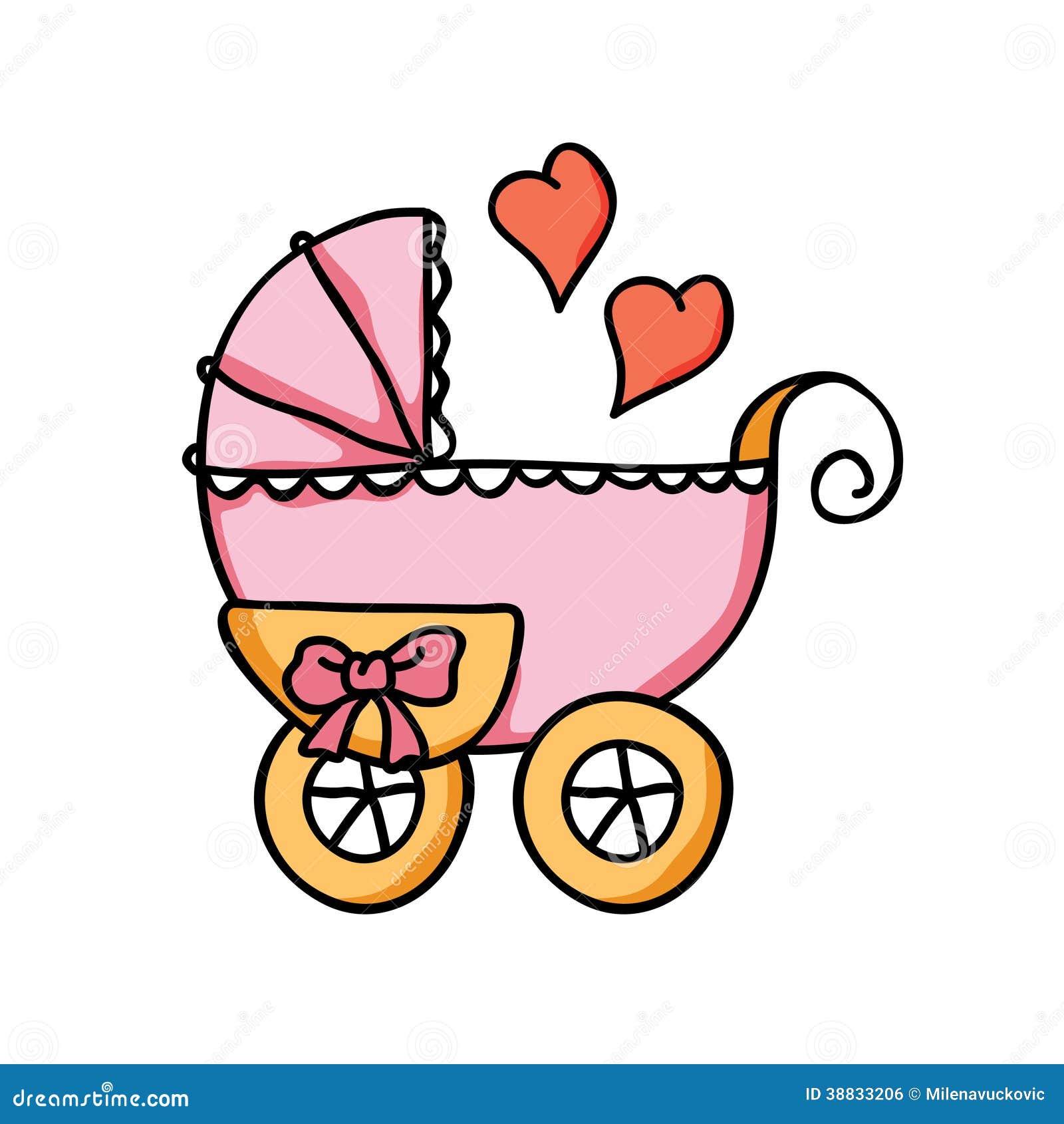 Baby Stroller Stock Vector Image 38833206