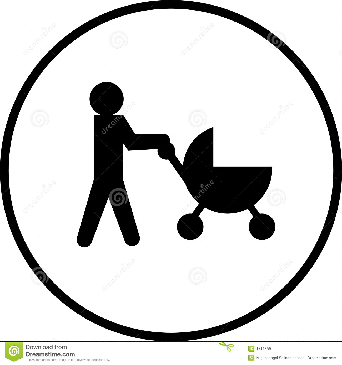 Baby Stroller Vector Symbol Royalty Free Stock Images - Image: 1711859 Happy Child Clipart