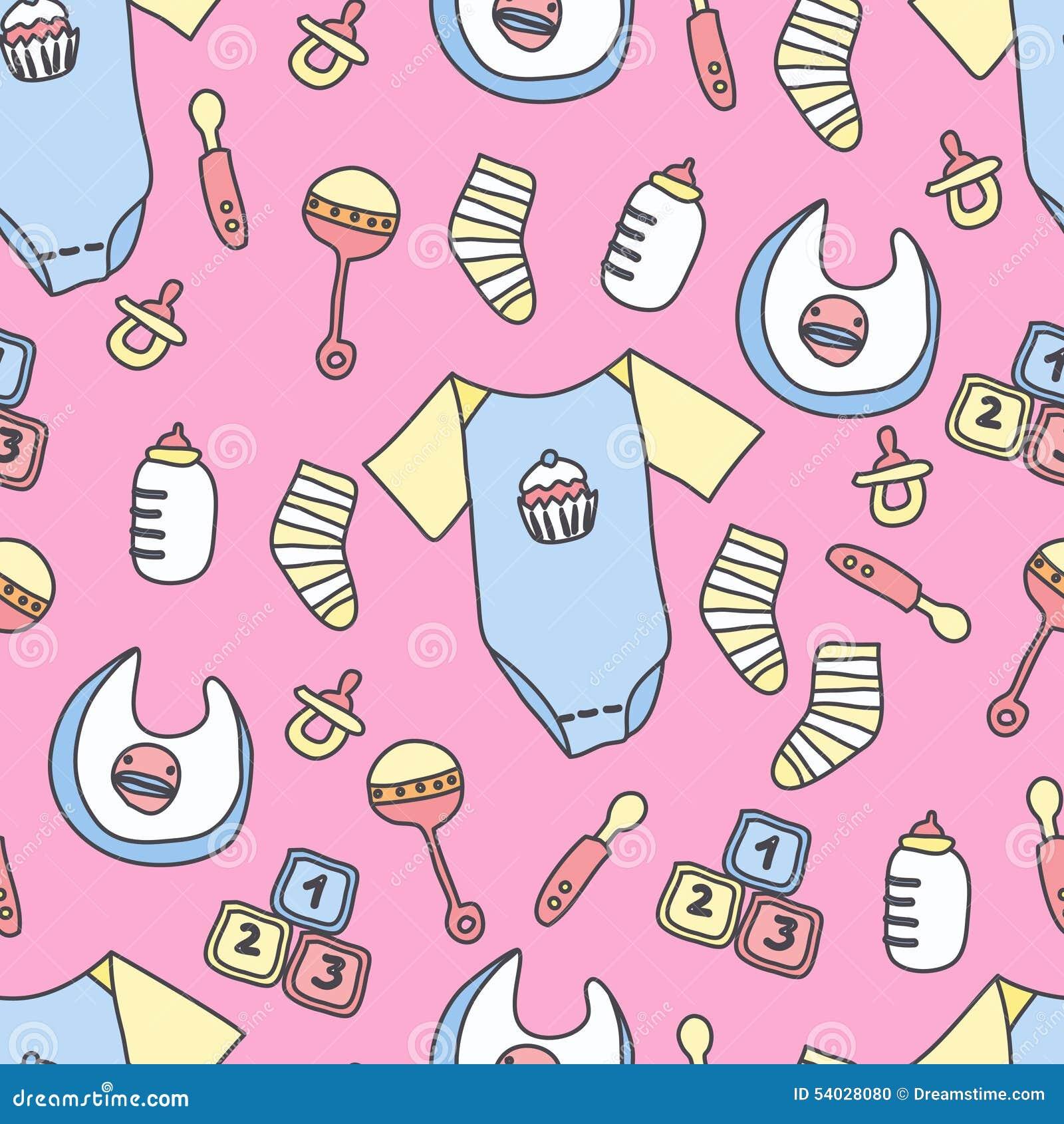 baby stuff pattern stock illustration image of children