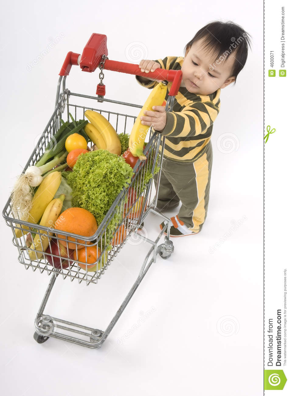 Baby in the supermarket