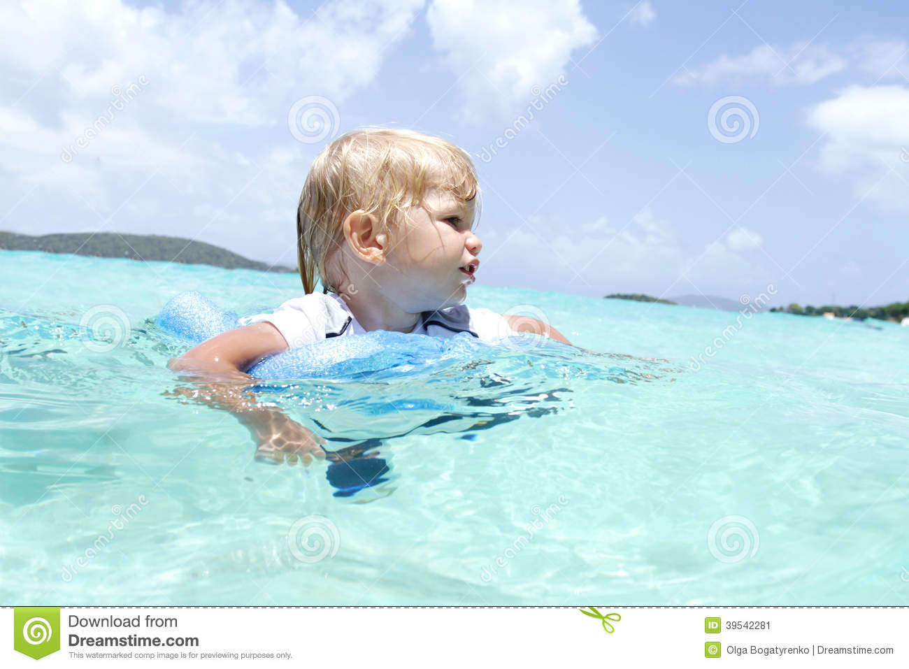baby swimming in tropical ocean stock image image of