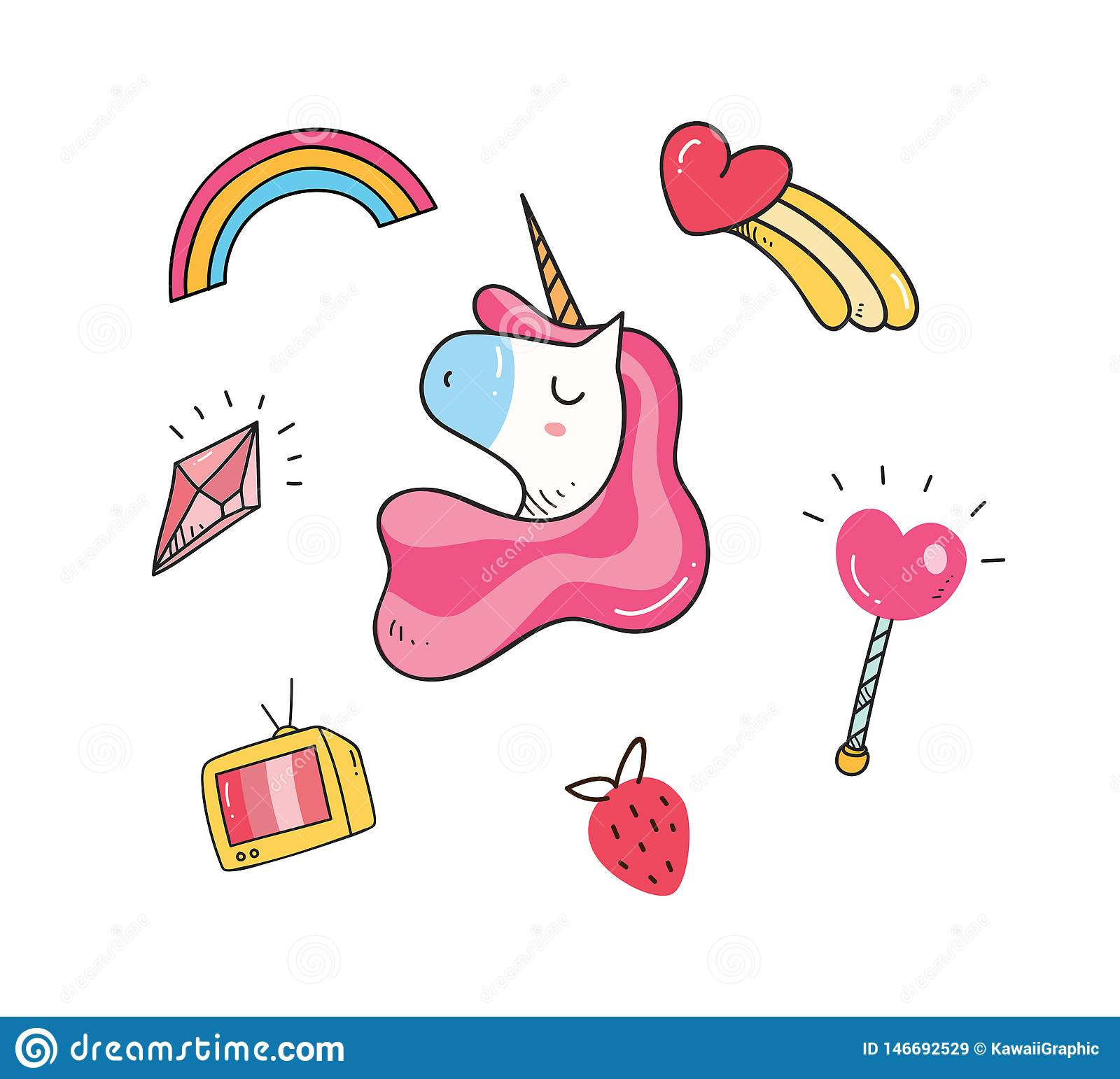 Baby t shirt design with unicorn patches