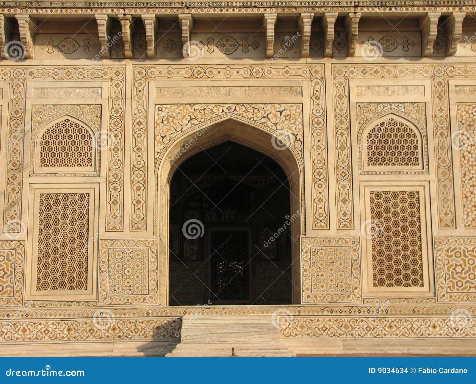 Baby Taj Mahal tomb stock photo. Image of mogul, arch ...