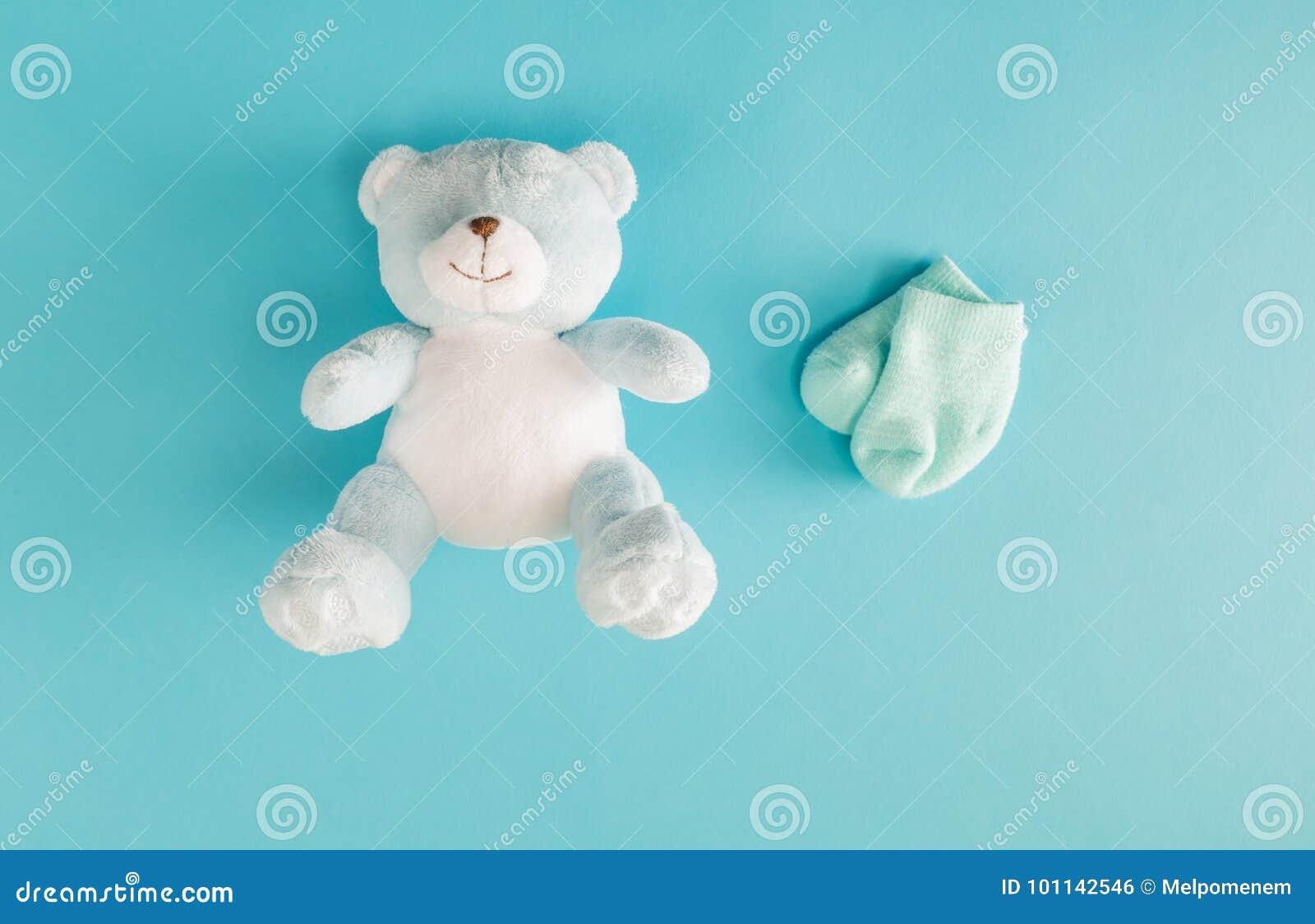 Baby teddy bear and socks