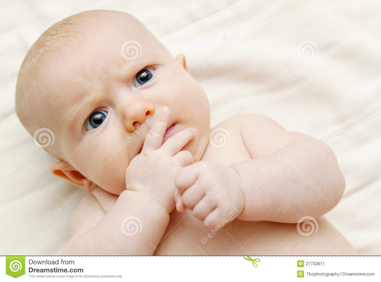 Baby Thinking Stock Image  Image: 27733811