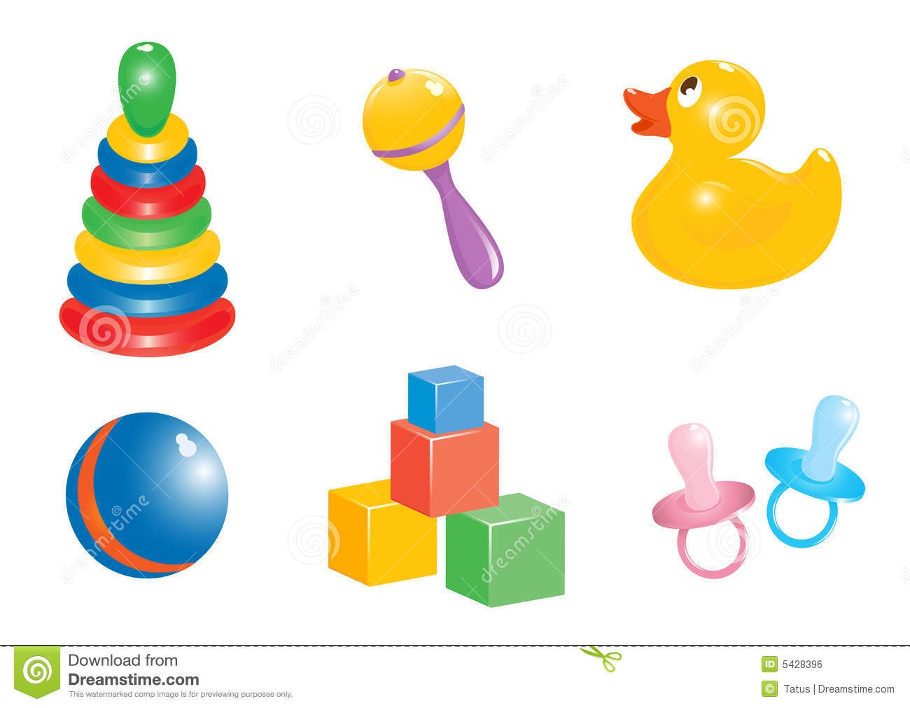 Baby toy icon set stock vector. Illustration of ball ...