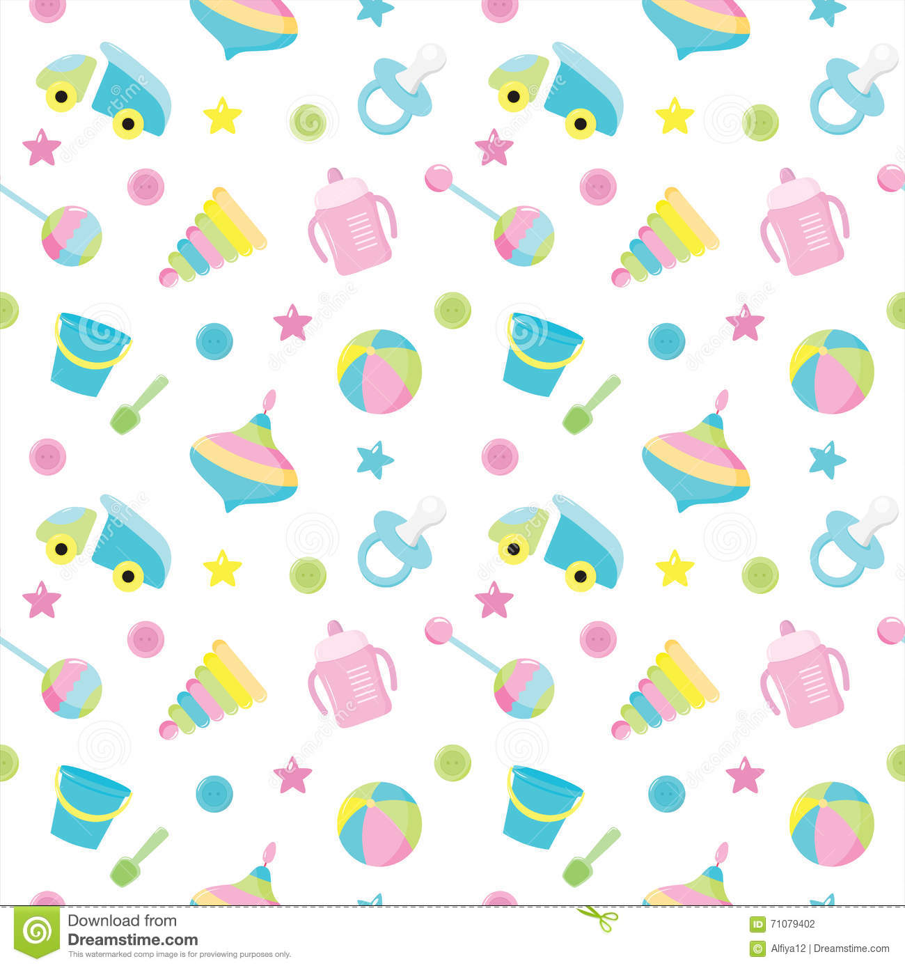 baby toy pattern stock vector. illustration of background - 71079402