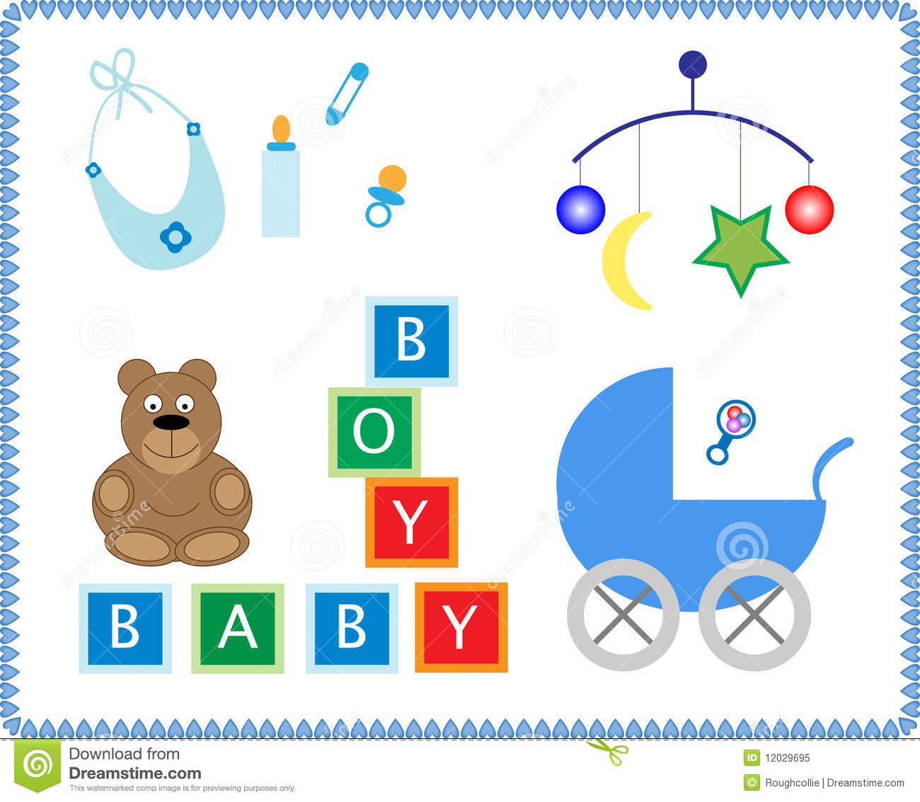 Baby Toys Stock Illustration Illustration Of Letters 12029695