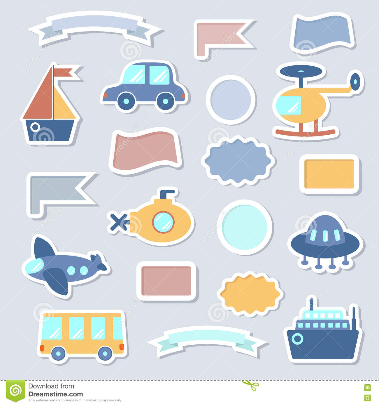 Baby Toys Stickers Stock Vector Illustration Of Drawing 76703832
