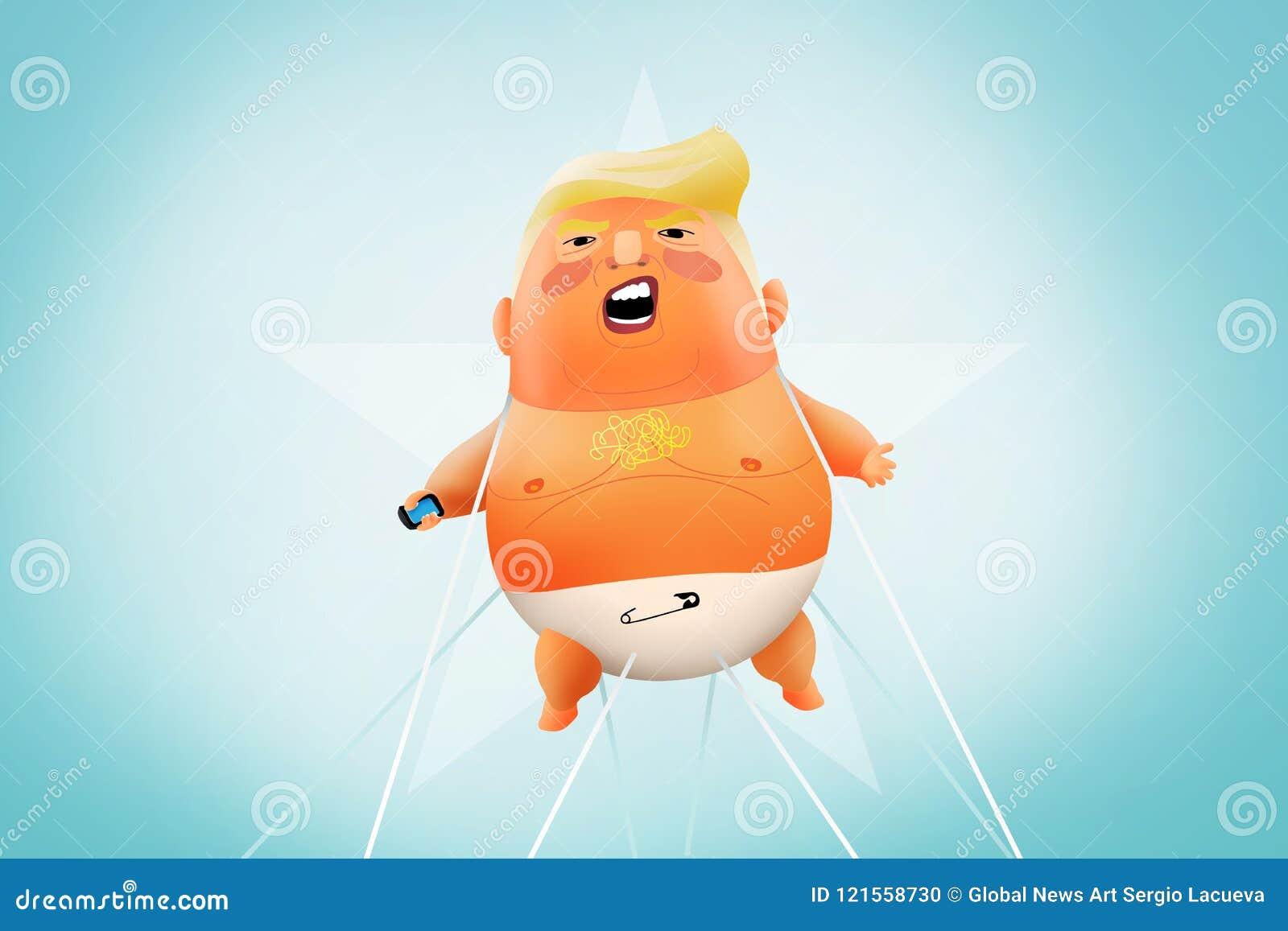 Baby-Trump Blimp