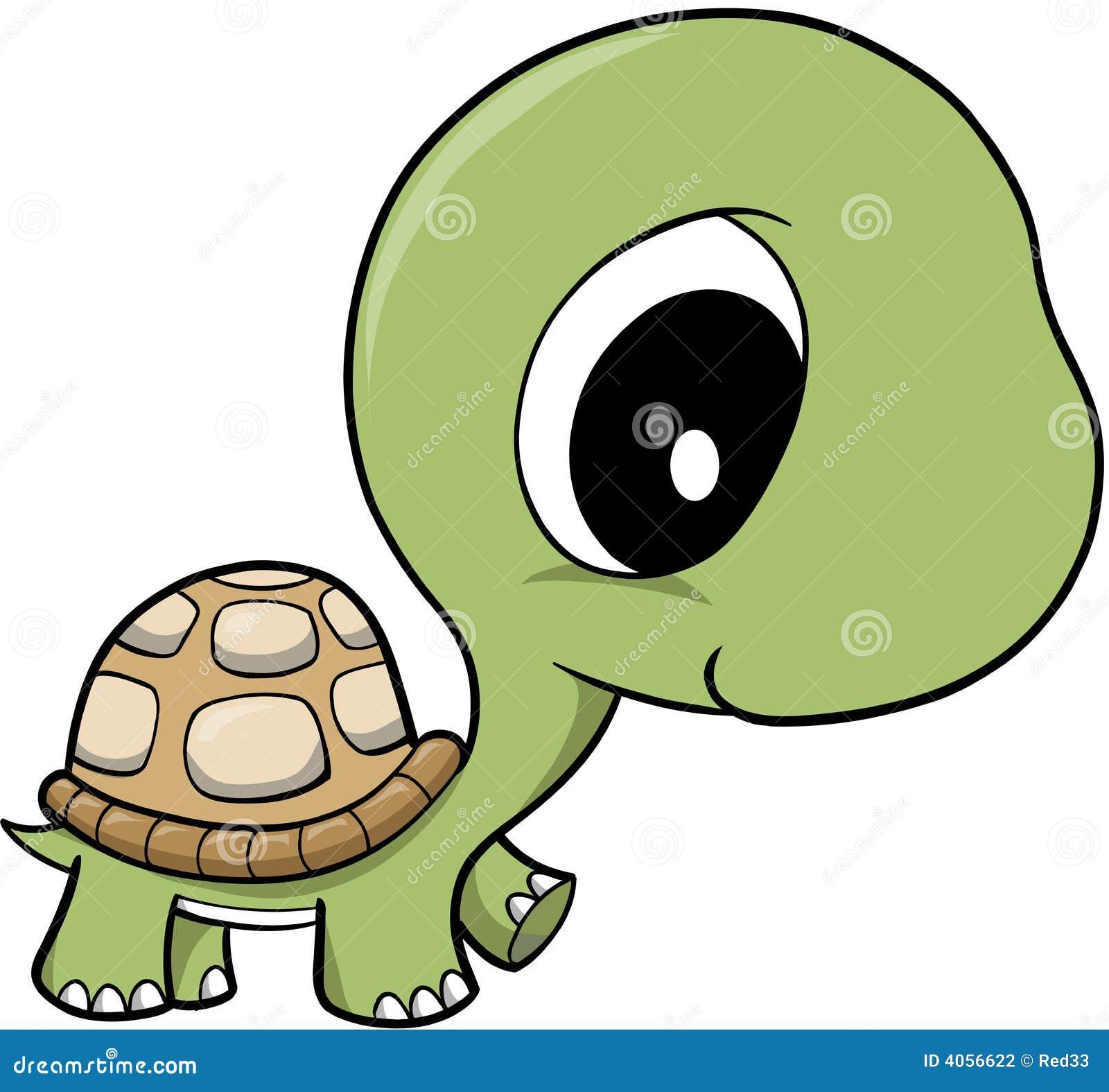 Cute cartoon animals with big eyes - Cute Illustration