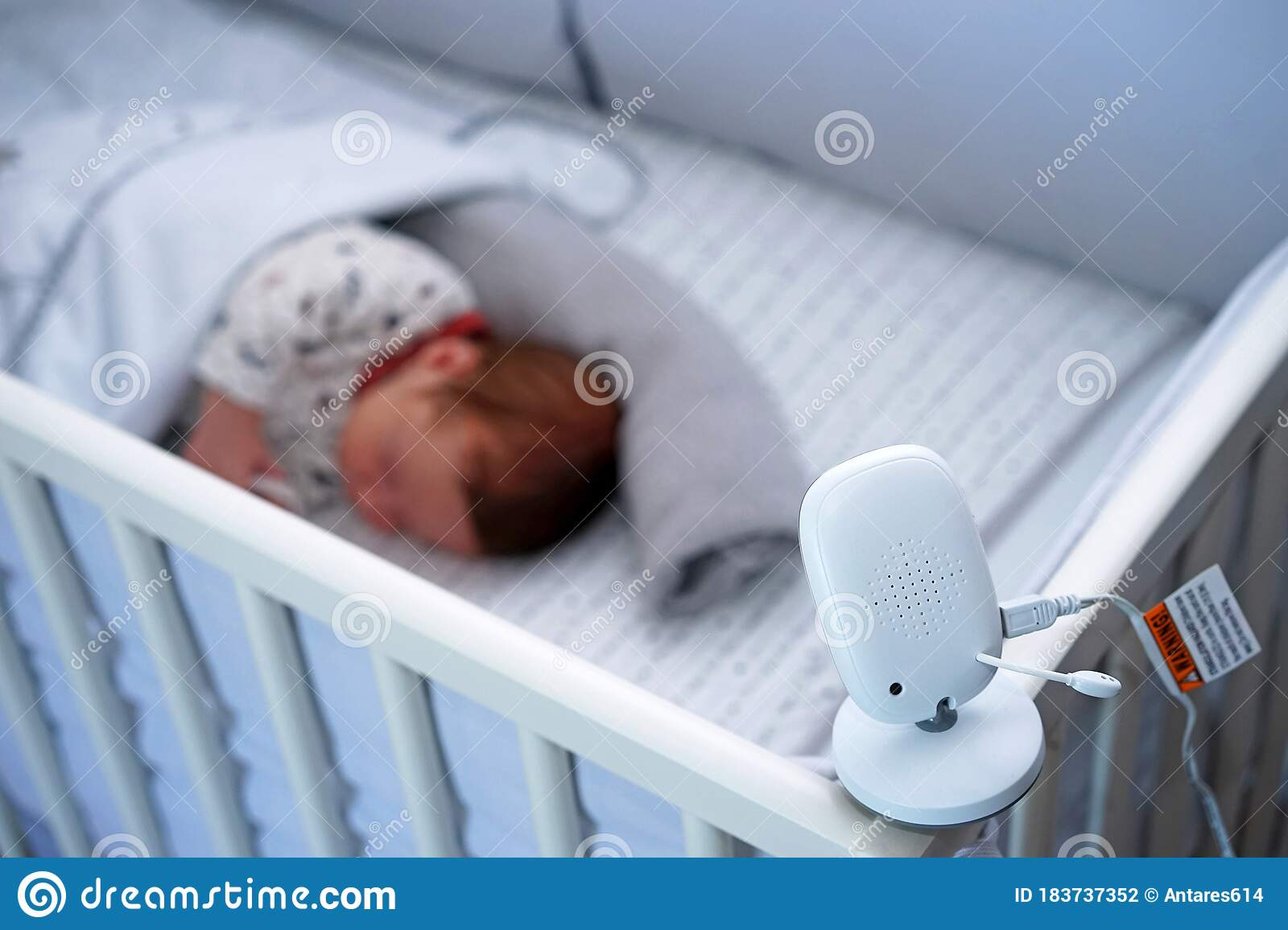 Baby Video Monitor, Surveillance Camera Stock Photo - Image of