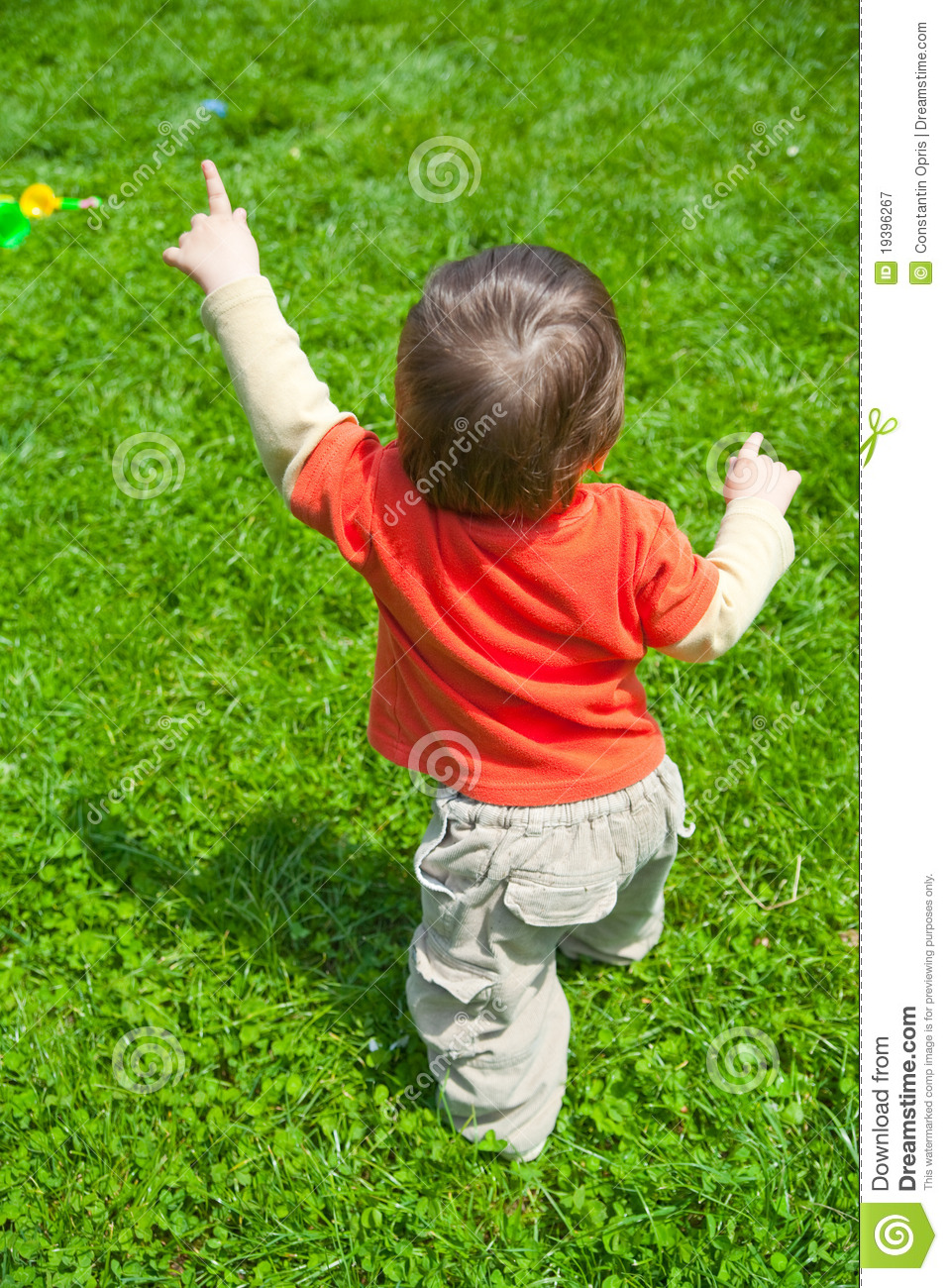 Baby Walking In Grass Royalty Free Stock Photography