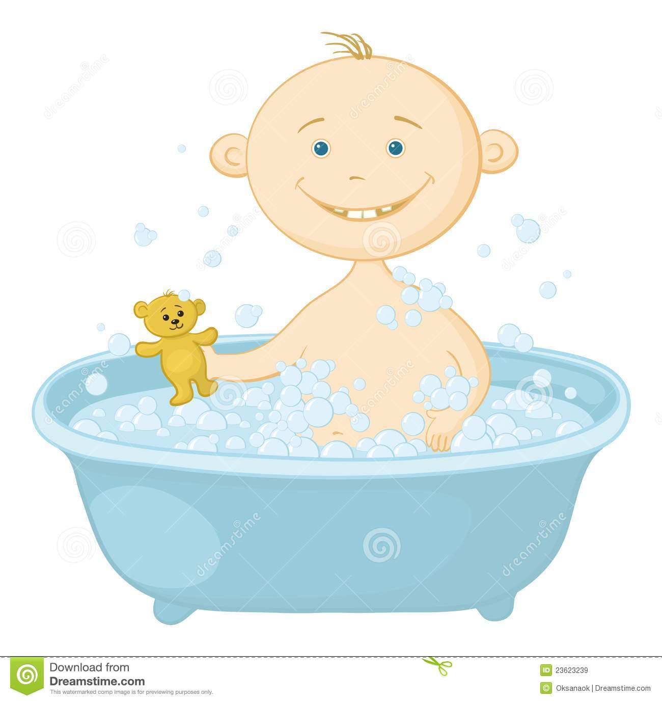 Baby Wash In The Bath Royalty Free Stock Images - Image ...