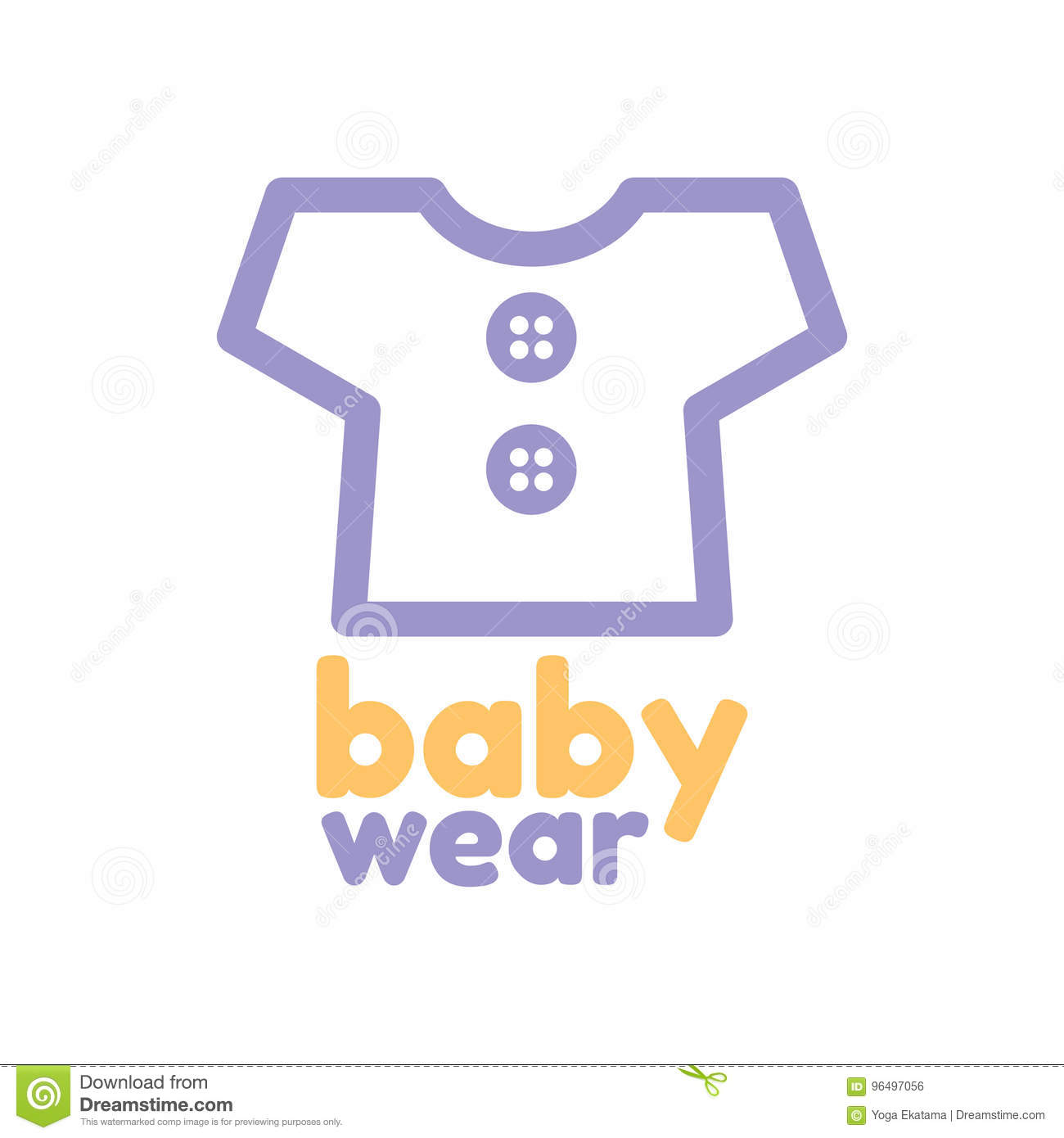 Baby Wear Logo Template Stock Vector Illustration Of People 96497056