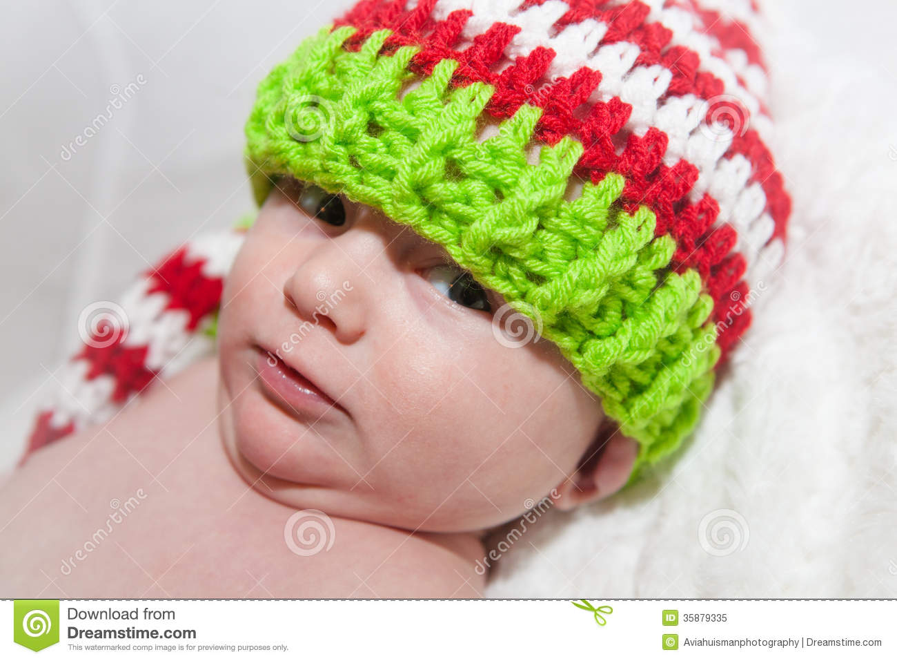 974cff51a38 Baby Wearing Cute Knit Hat stock image. Image of knitted - 35879335