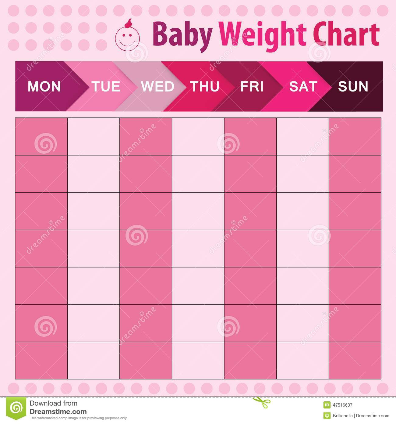 Baby weight chart stock vector illustration of motherhood 47516637 geenschuldenfo Image collections