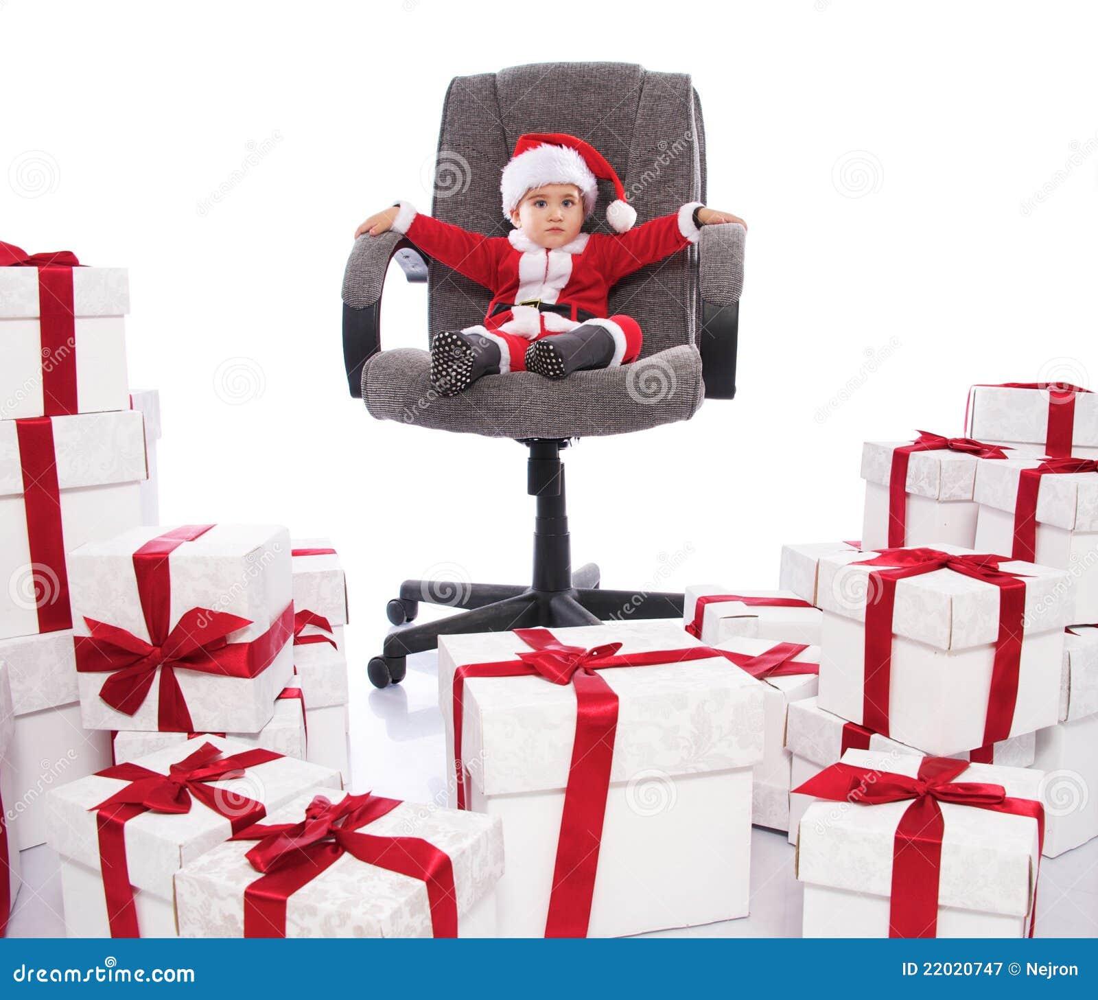 baby weihnachtsmann stockbild bild von zicklein fell. Black Bedroom Furniture Sets. Home Design Ideas