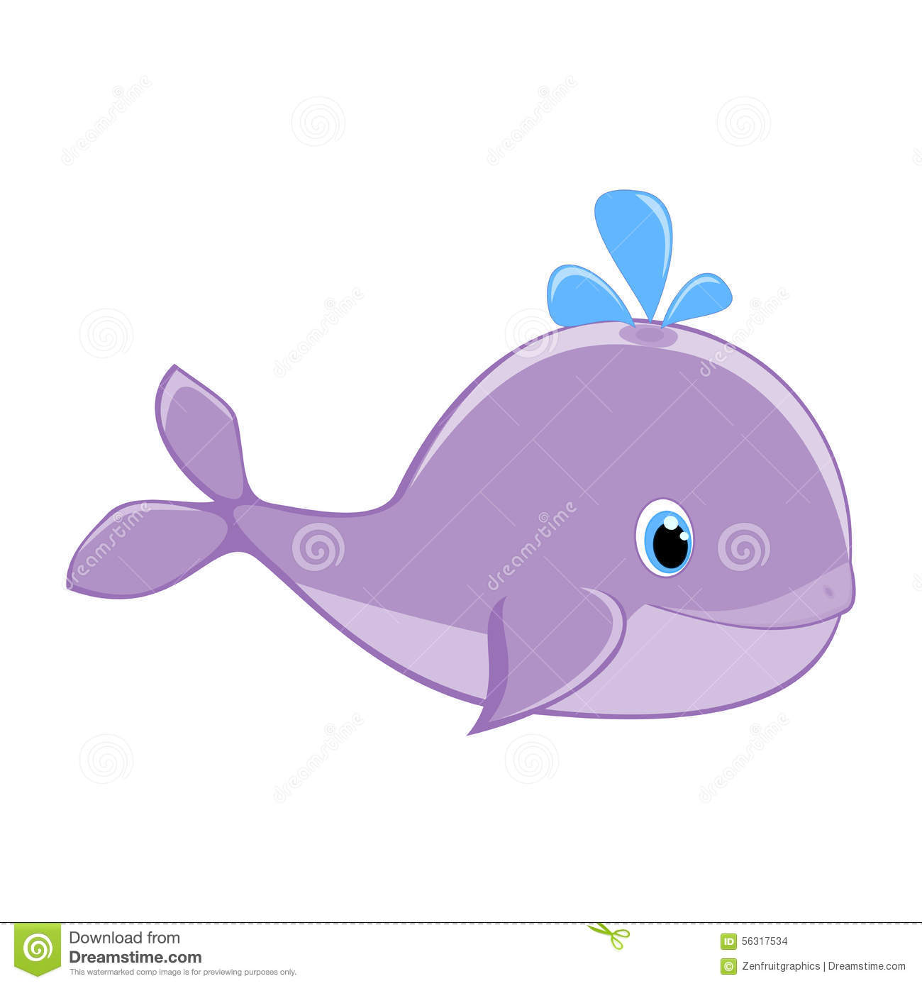 Cute whale in water cartoon isolated illustration stock photography - Baby Whale With Water Splash Vector Illustration Cute Cartoon Whale Vector Sea Mammal Vector Sea Life