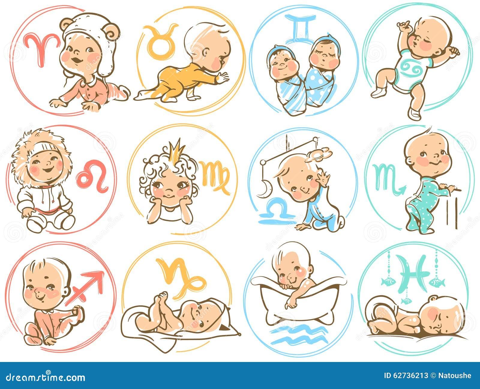 baby zodiac horoscope sighns as cartoon kids stock vector image 62736213 zodiac clip art free zodiac clipart