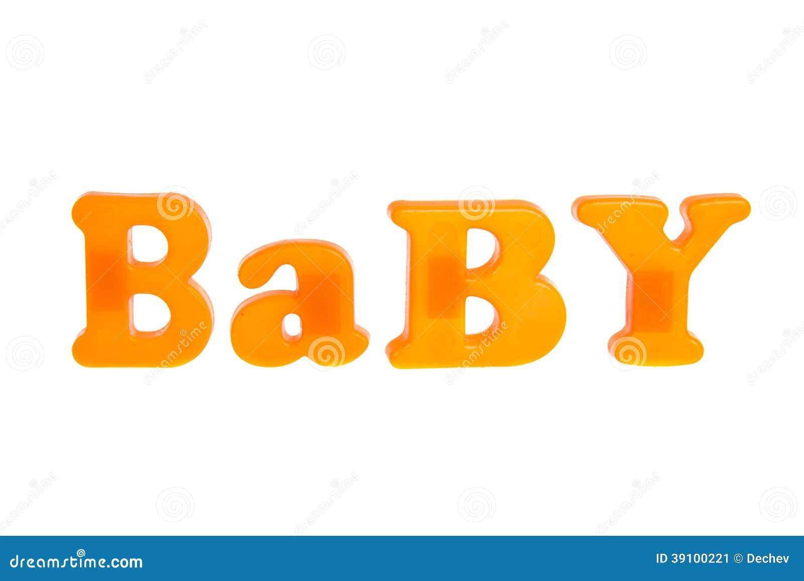 Babybrieven op witte achtergrond