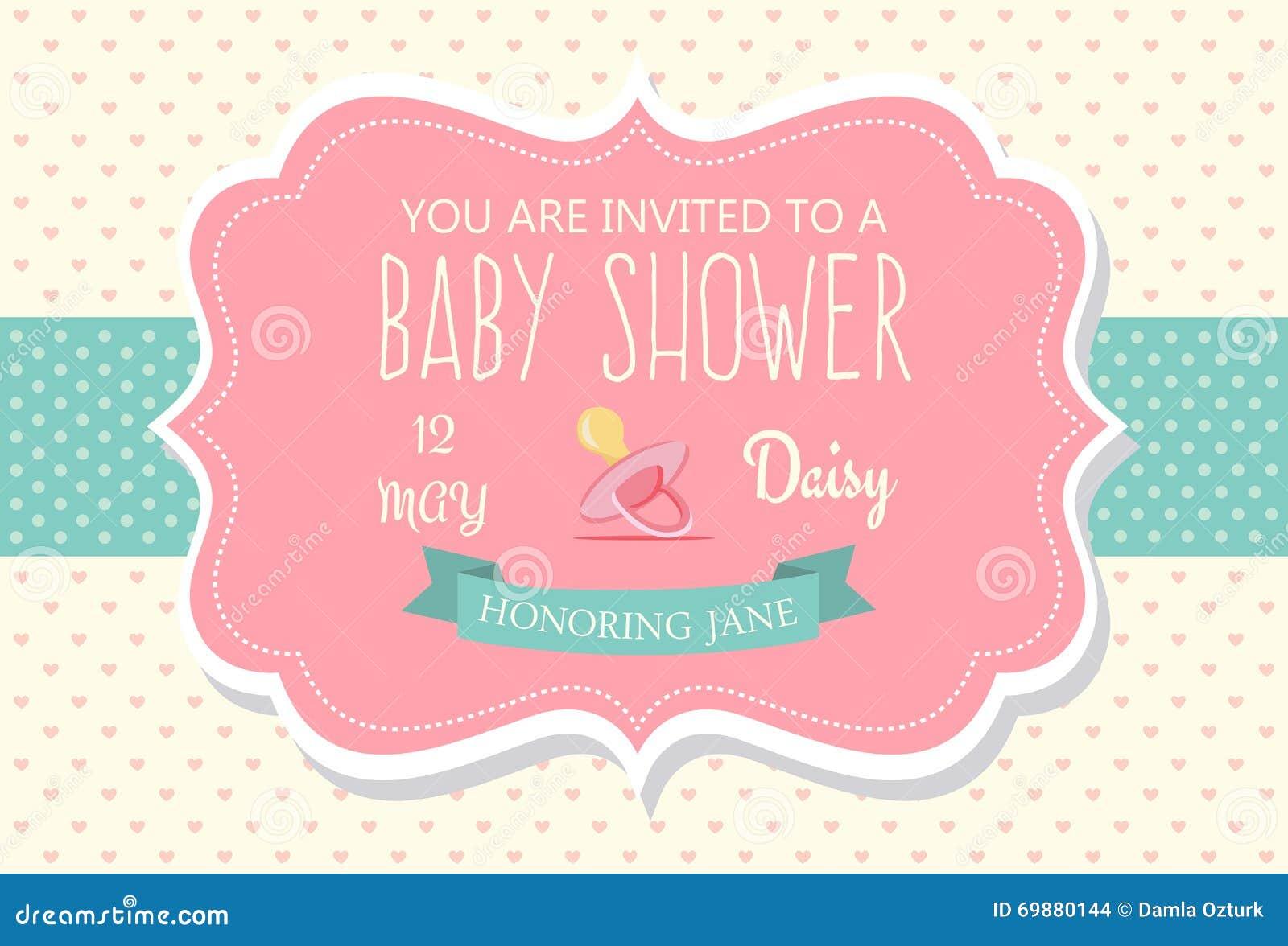Babyparty Einladung Vektor Abbildung   Bild: 69880144, Einladungs