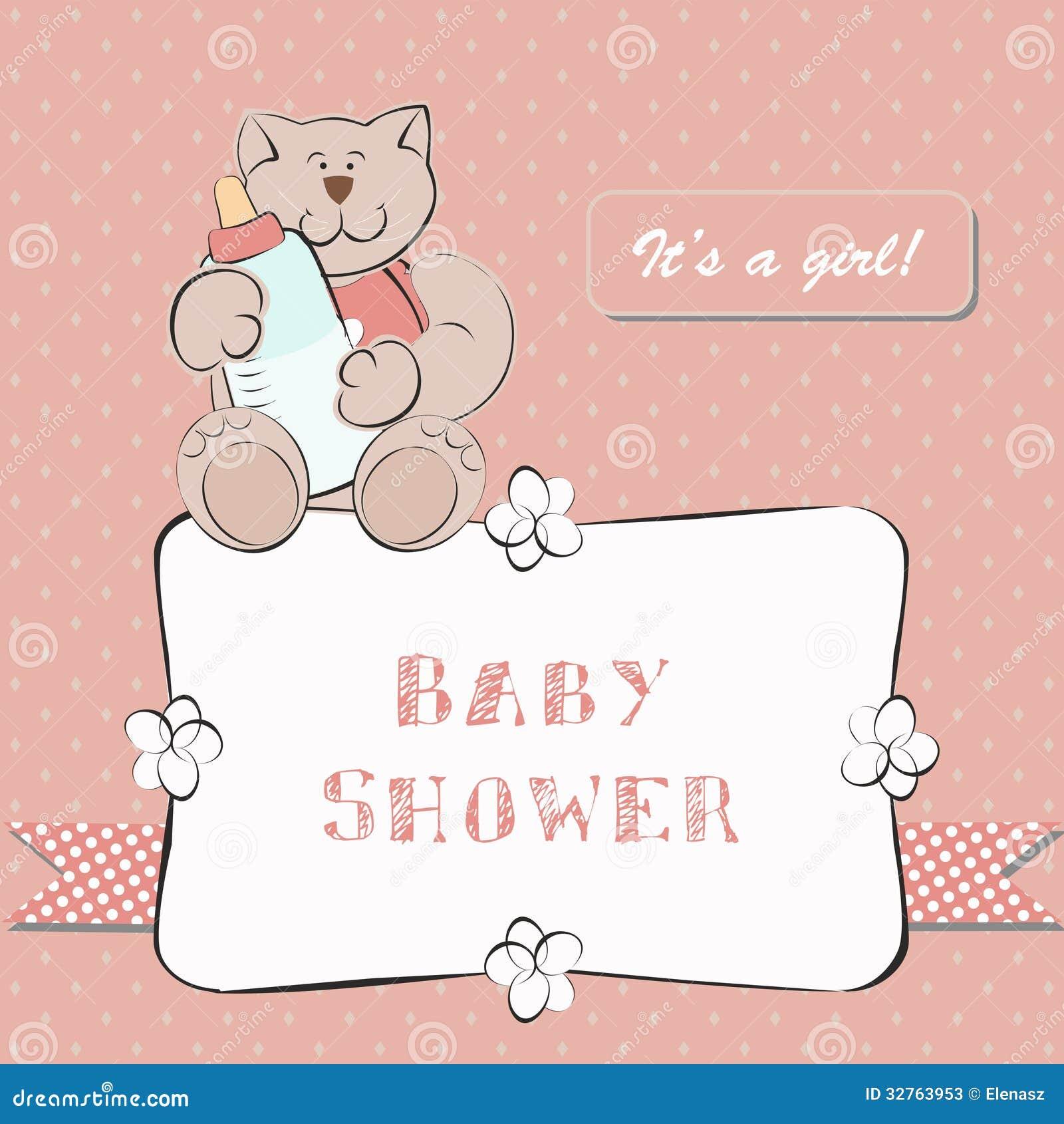 Babyparty Einladung Mit Dot Background Stockfotos   Bild: 32763953,  Einladungs