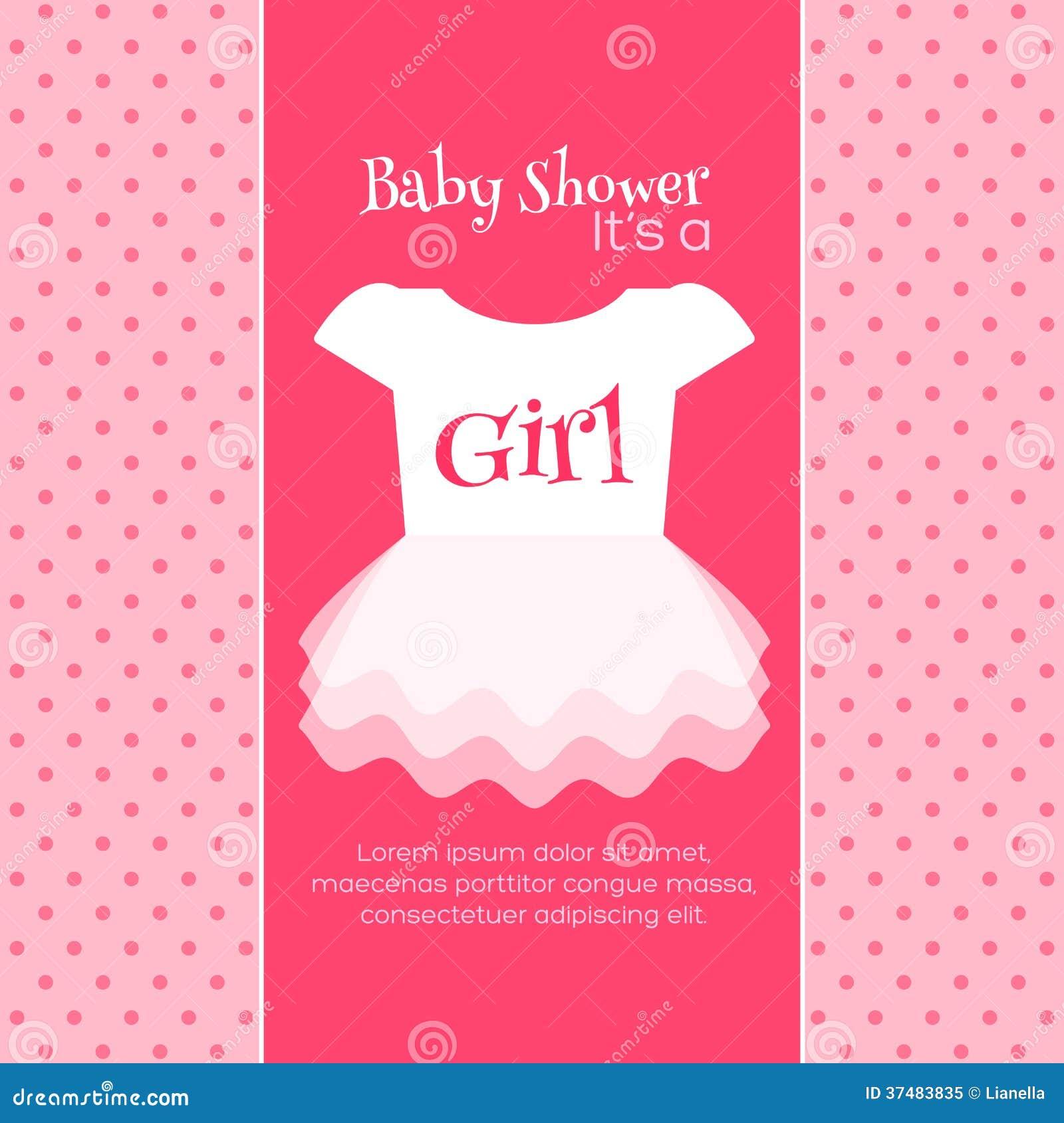 Babyparty-Einladungs-Schablone Stock Abbildung - Illustration von ...