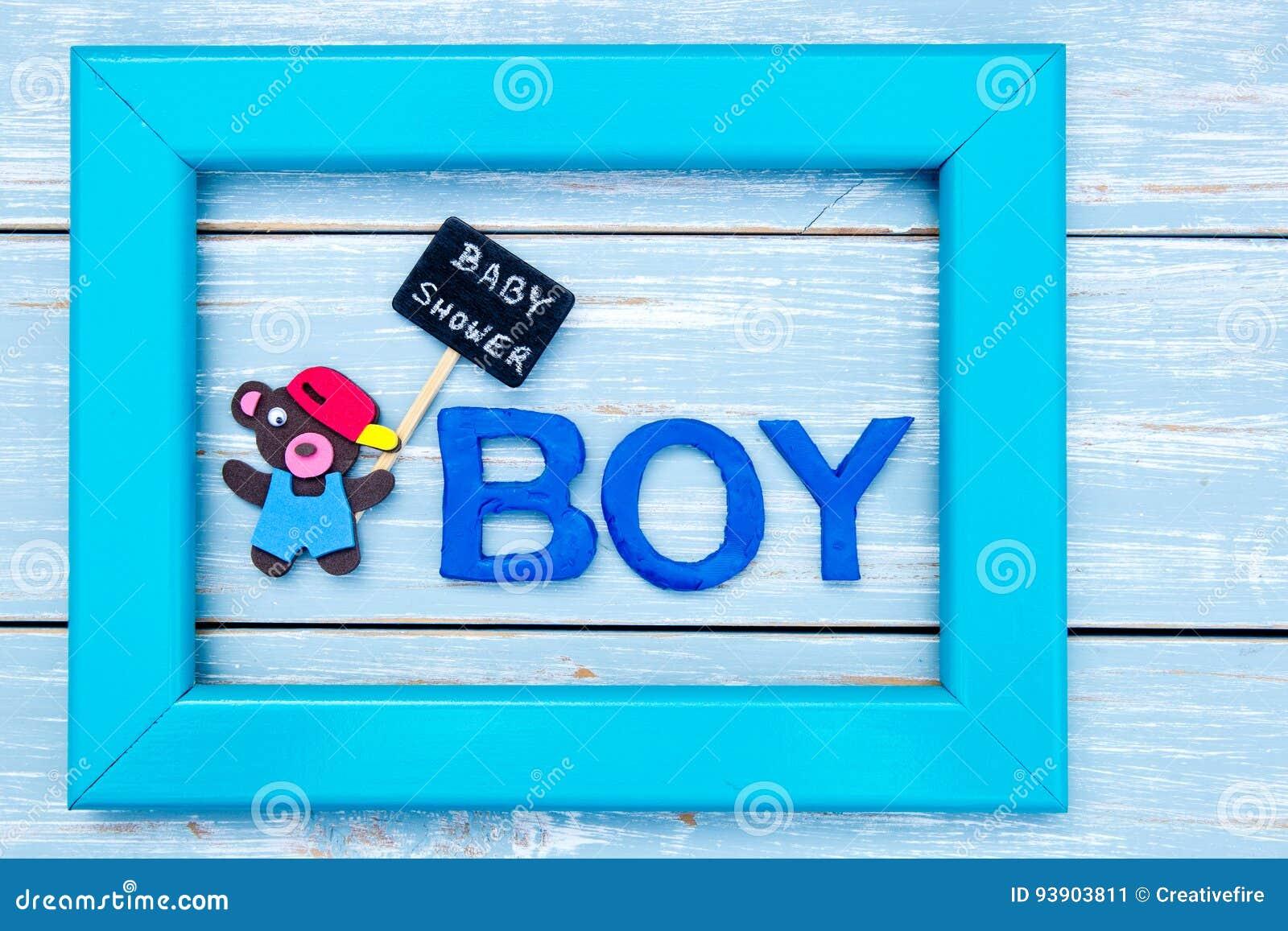 Babyparty - Junge - Bär Mit Tafel Unterzeichnen Herein Rahmen Auf ...