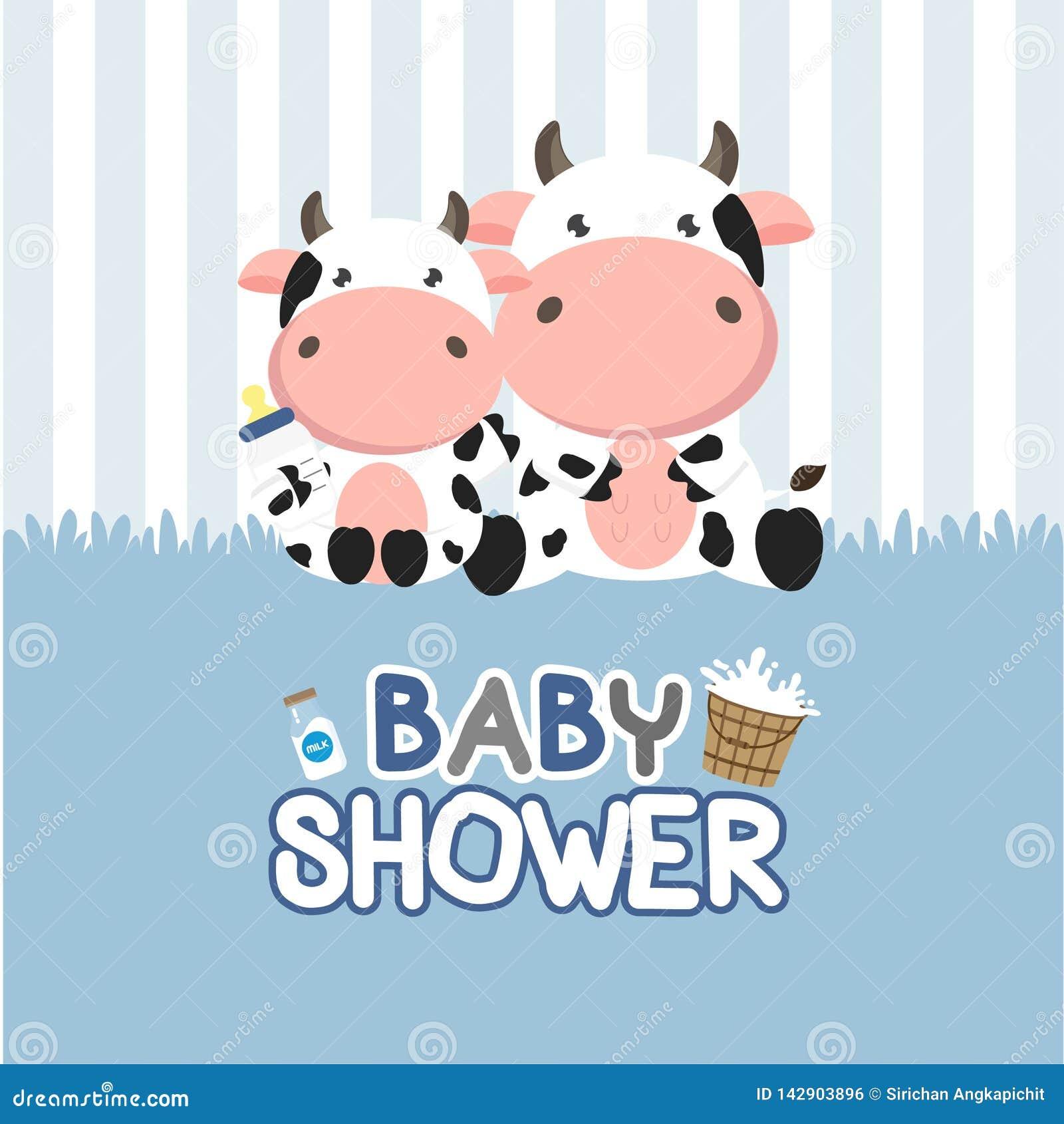 Babypartygru?karte mit weniger Kuh Auch im corel abgehobenen Betrag