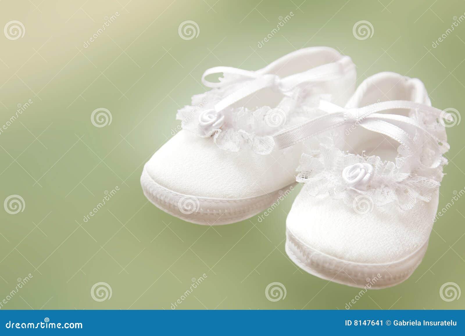 Babyschuhe Stockbild Bild Von Spitze Tauf Klein Weiß