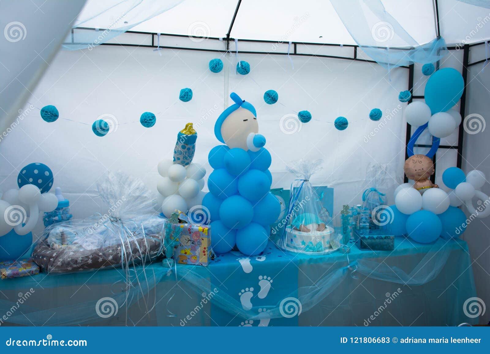 Babyshower Presents On A Table Stock Image Image Of Babyshower