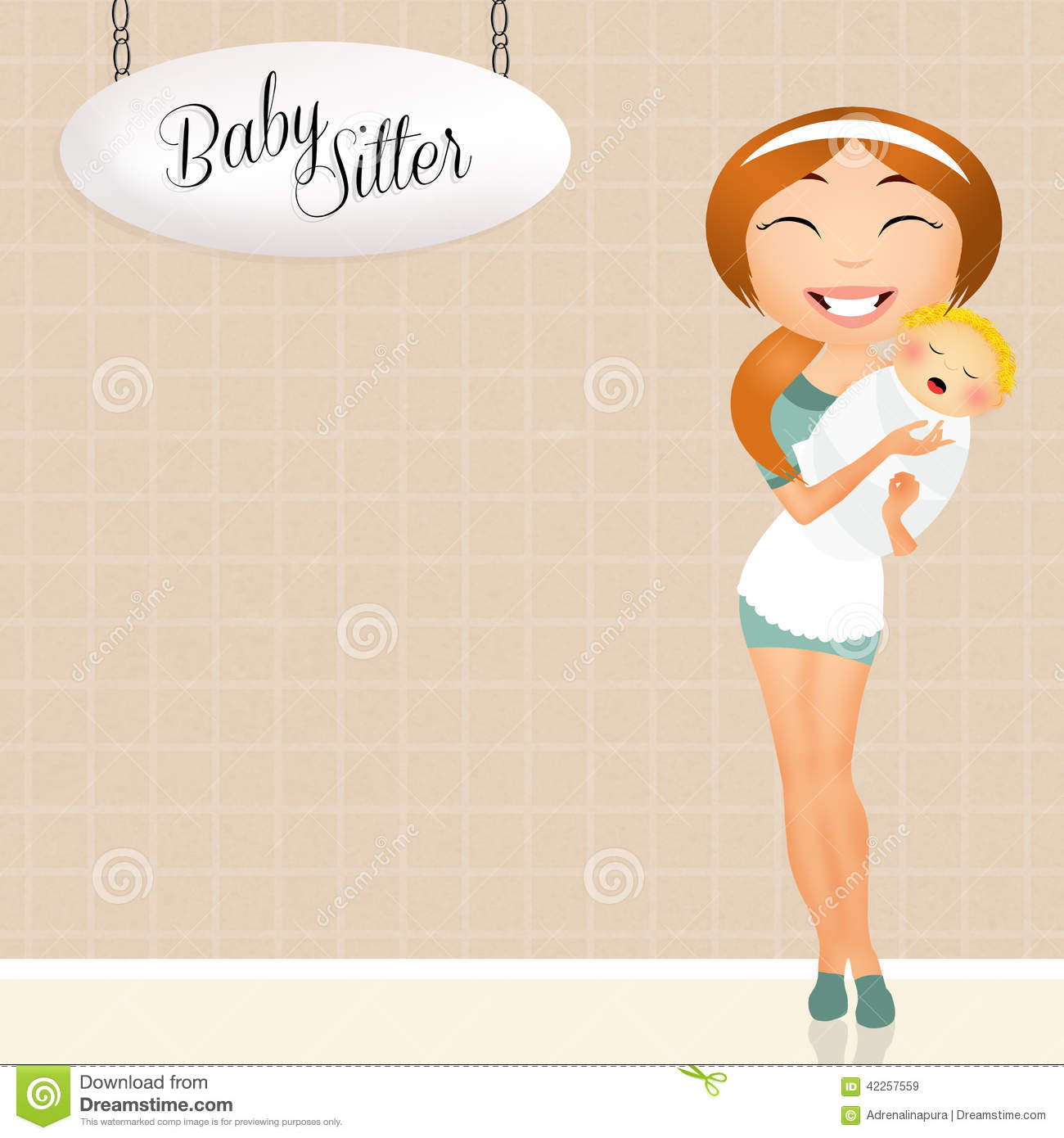 babysitter stock illustration illustration of baby girl 42257559