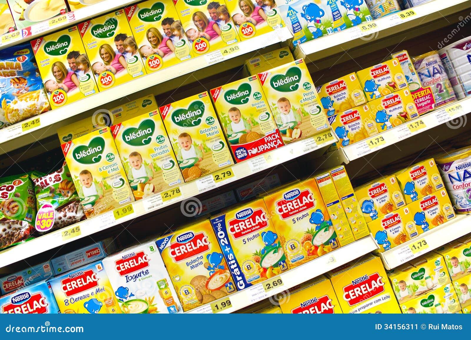 Babyvoedsel bij de supermarkt