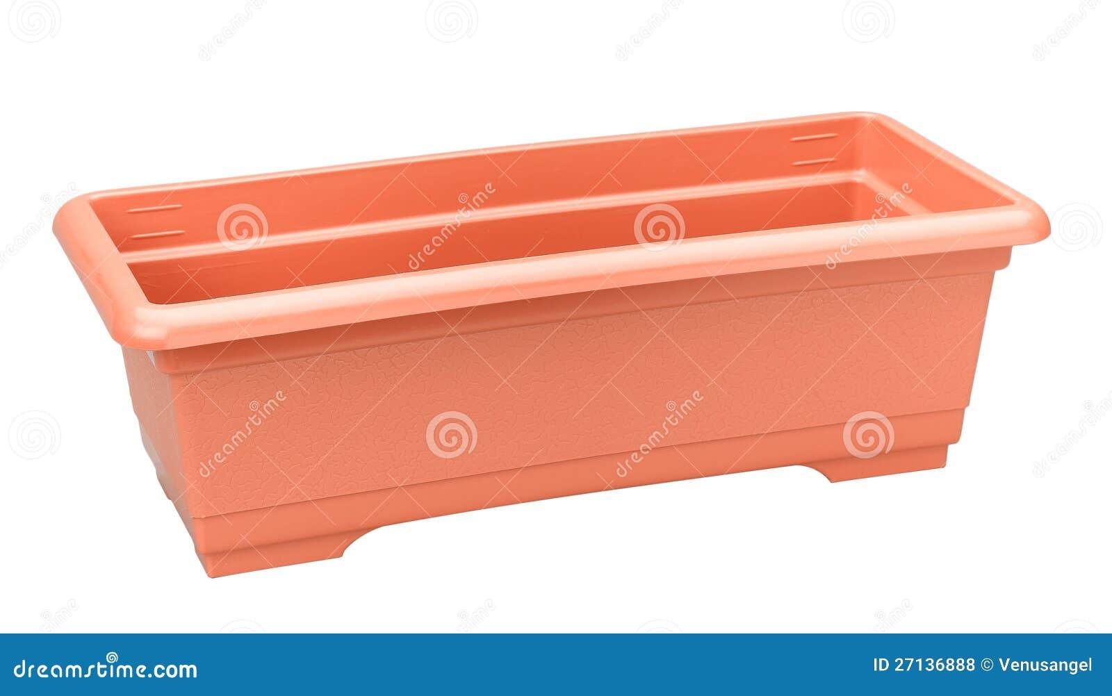 bac de fleur en plastique carr vide photos libres de droits image 27136888. Black Bedroom Furniture Sets. Home Design Ideas