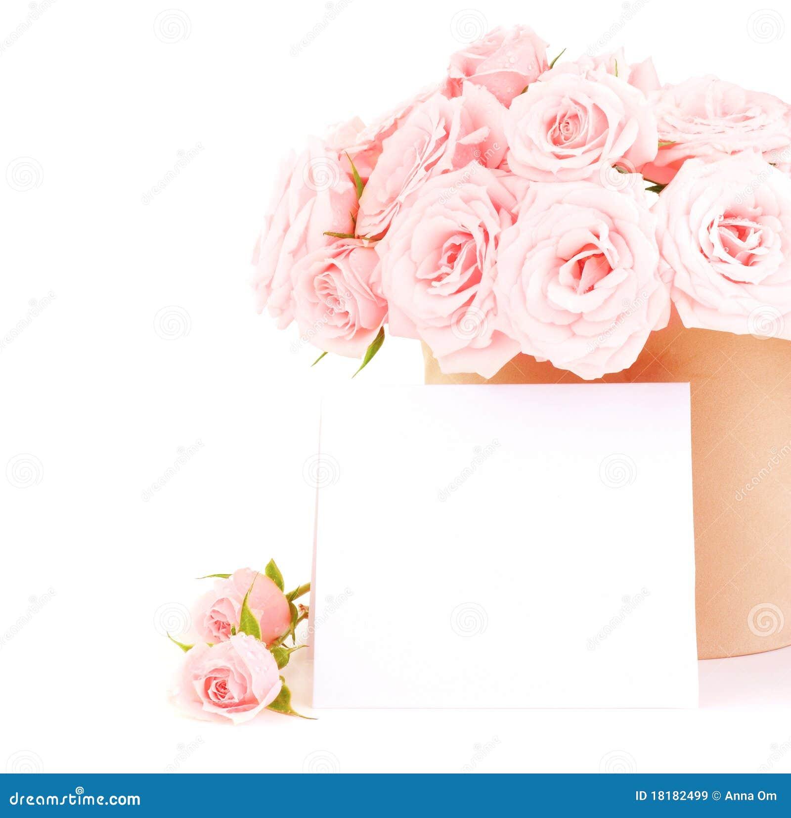 Bac de roses roses