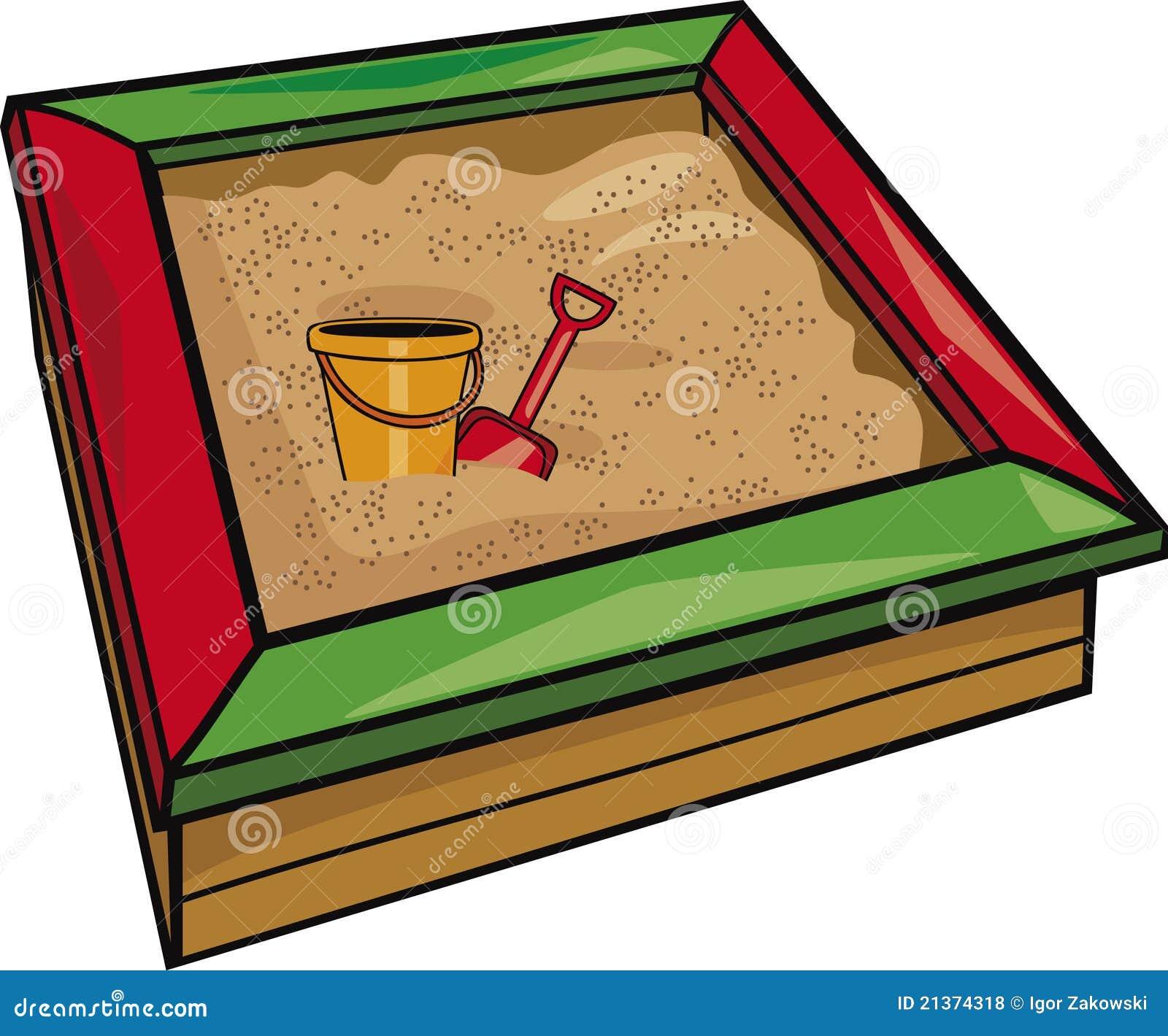 bac sable avec des jouets photos libres de droits image 21374318. Black Bedroom Furniture Sets. Home Design Ideas
