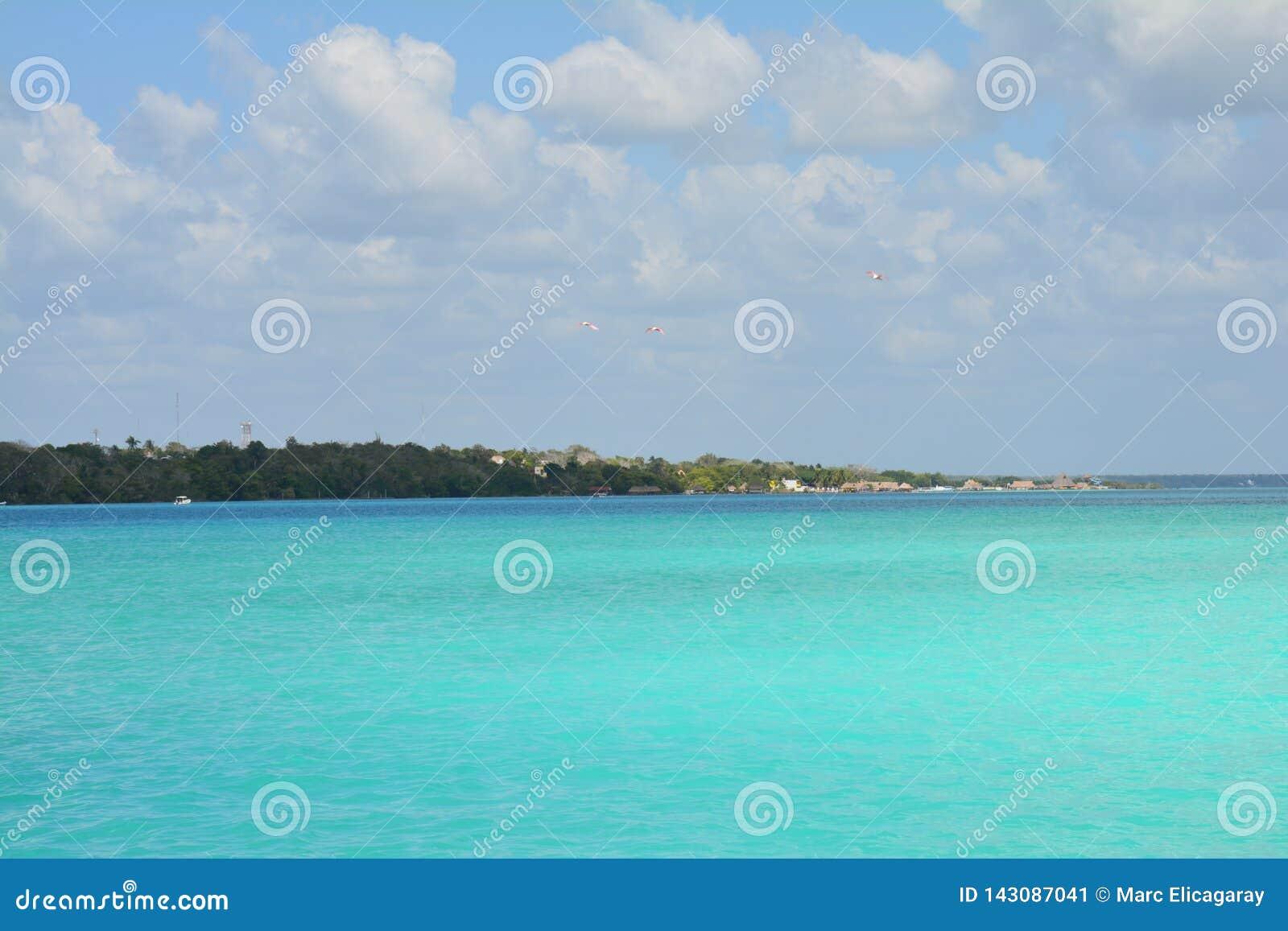 Bacalarlagune in Quintana Roo Mexico