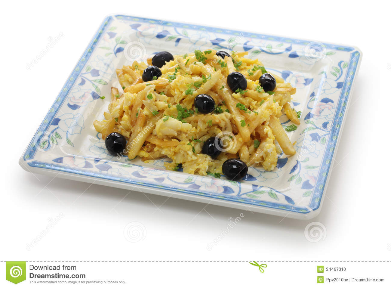 Bacalhau soutiens gorge cuisine portugaise photo stock for Cuisine portugaise