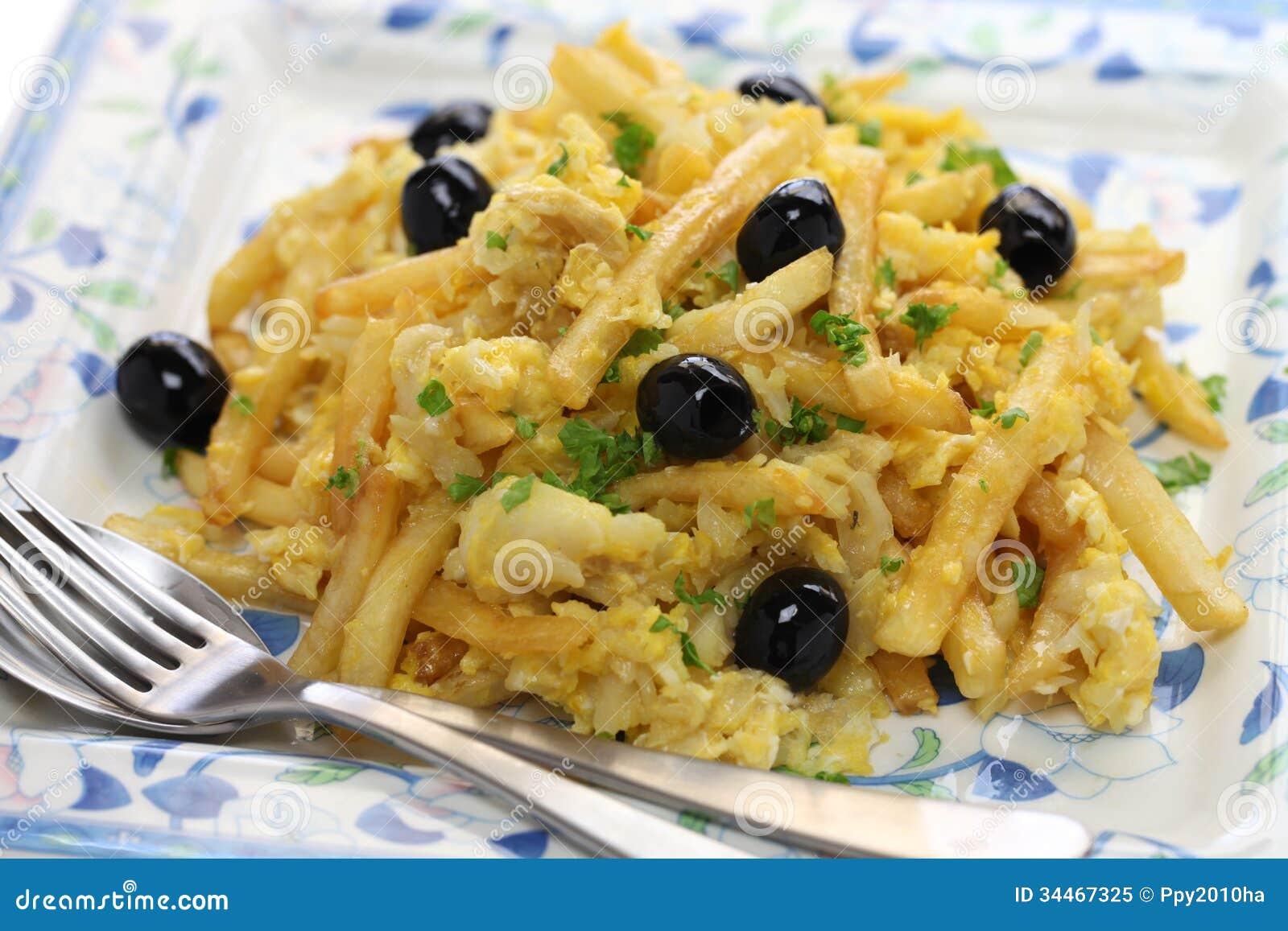 Bacalhau soutiens gorge cuisine portugaise photo libre de for Cuisine portugaise