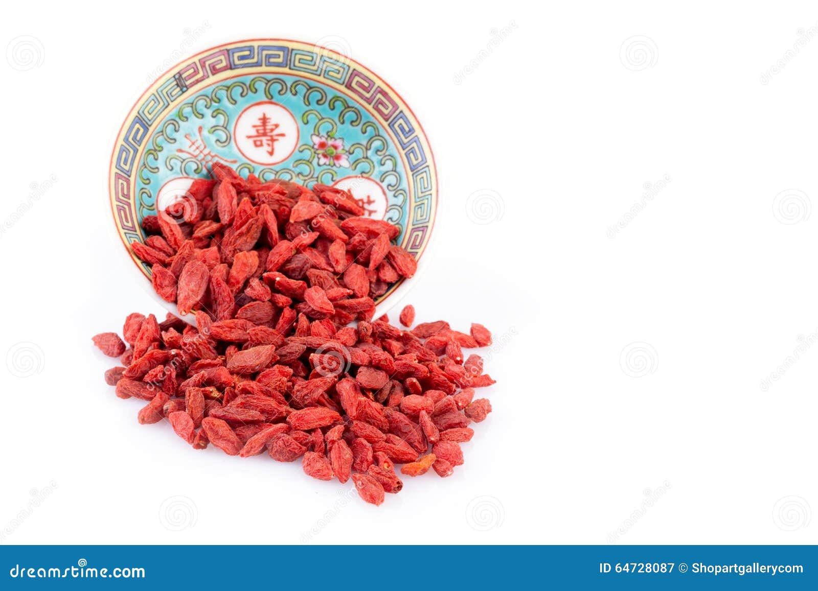 Bacche di Goji in ciotola cinese