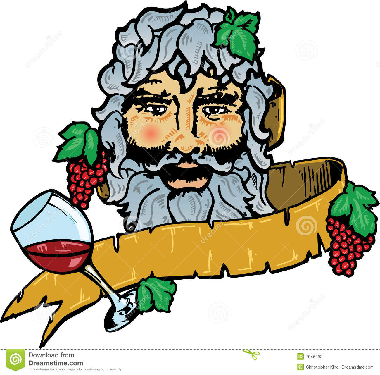 Bacchus Or Dionysus The God Of Wine Stock Vector - Image ...