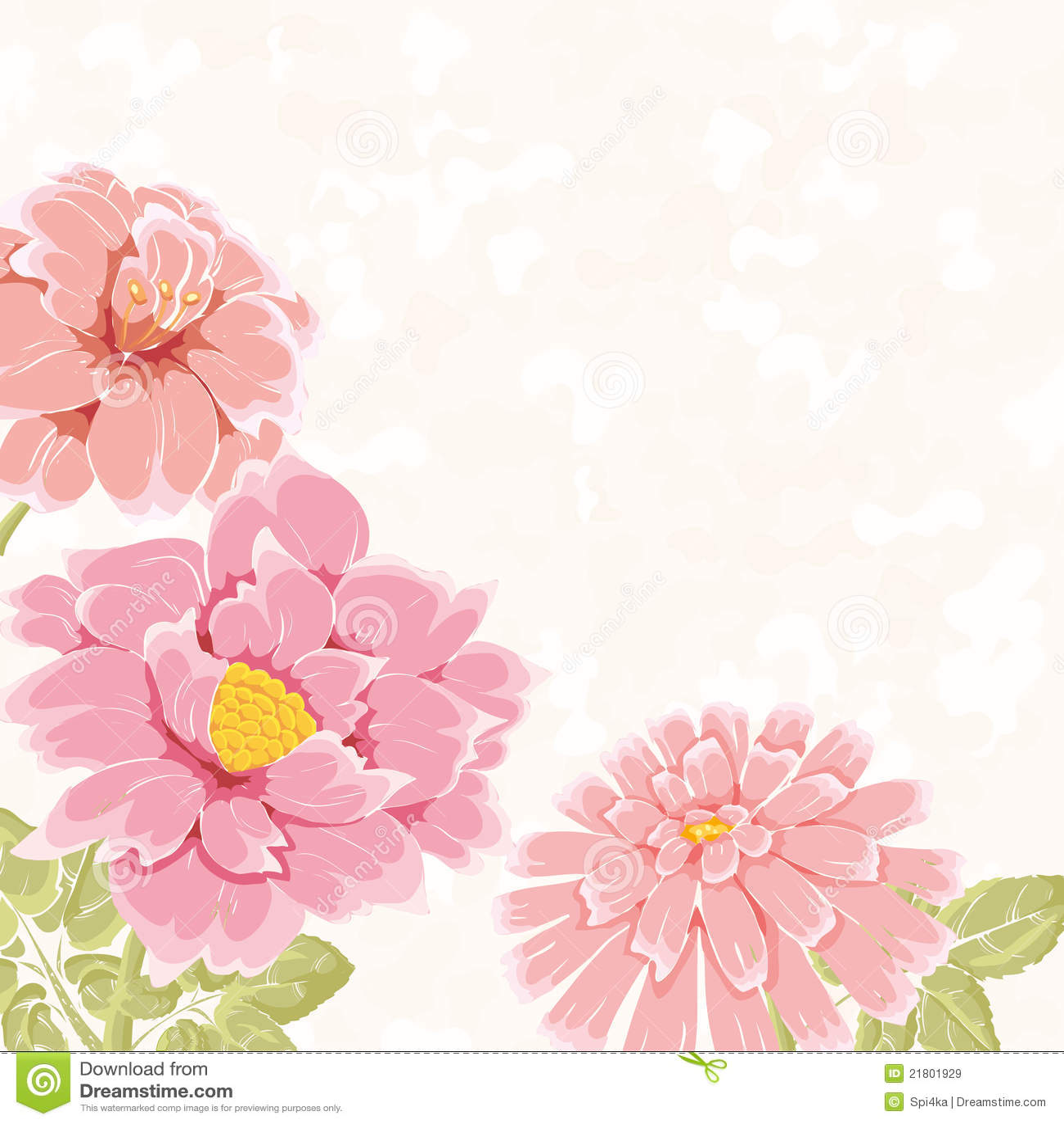 Bacground floreale con i fiori disegnati a mano dentellare for Fiori disegnati