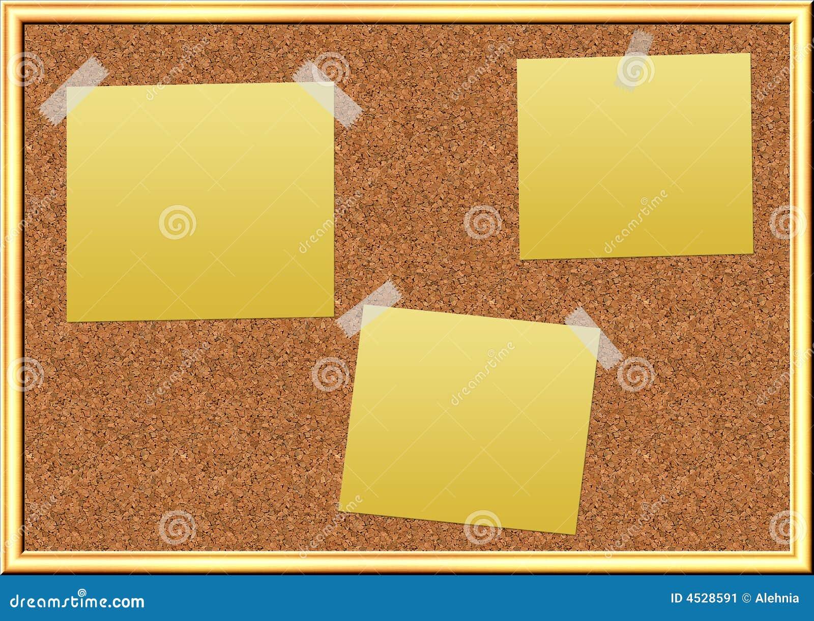 Bacheca del sughero illustrazione di stock illustrazione for Tablon de corcho grande