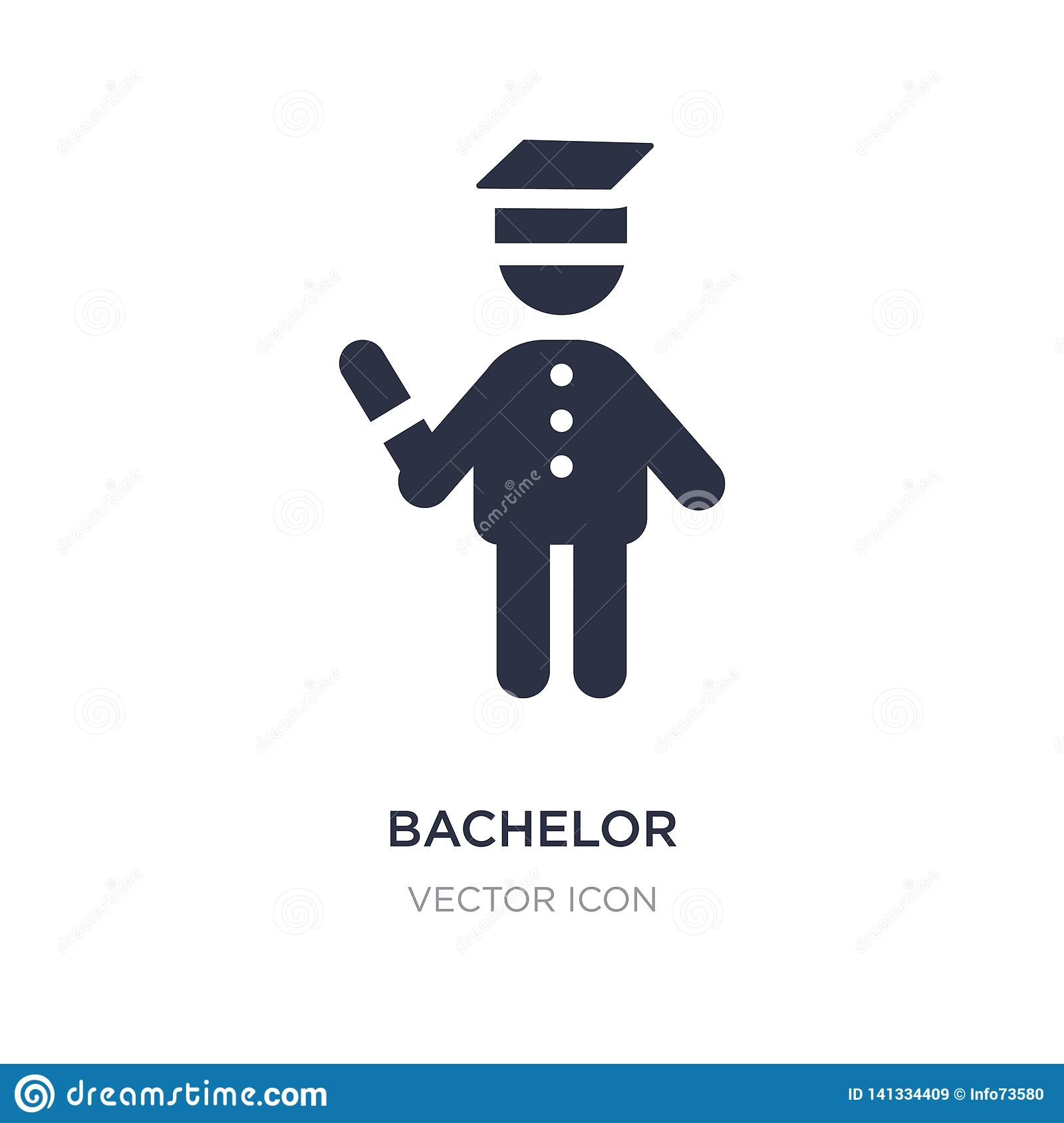 bachelor icon on white background. Simple element illustration from People concept