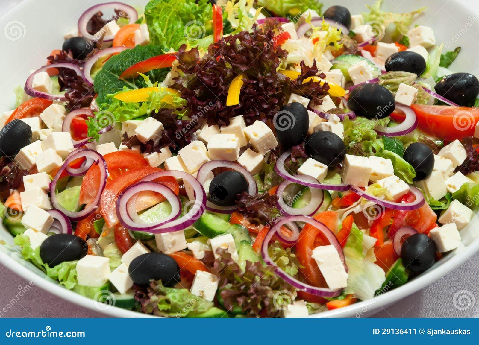 Bacia de salada grega