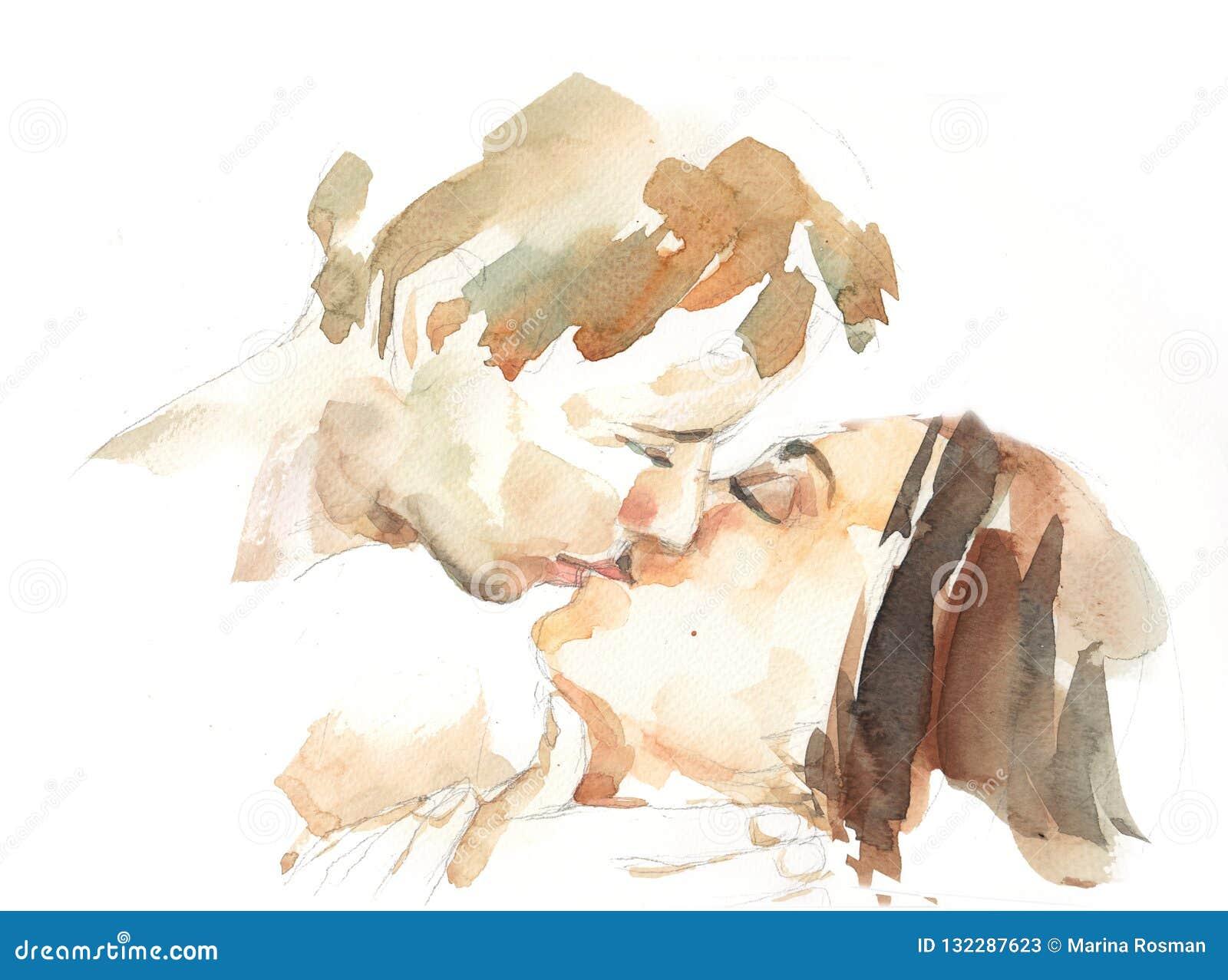 Baciare il ritratto delle coppie