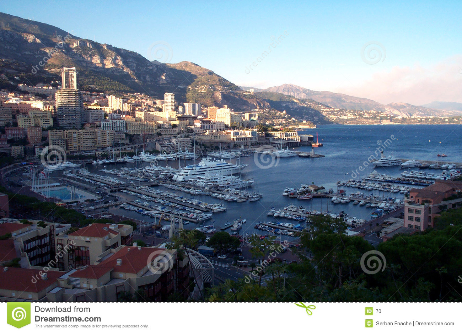 Bacini della Monaco da sopra