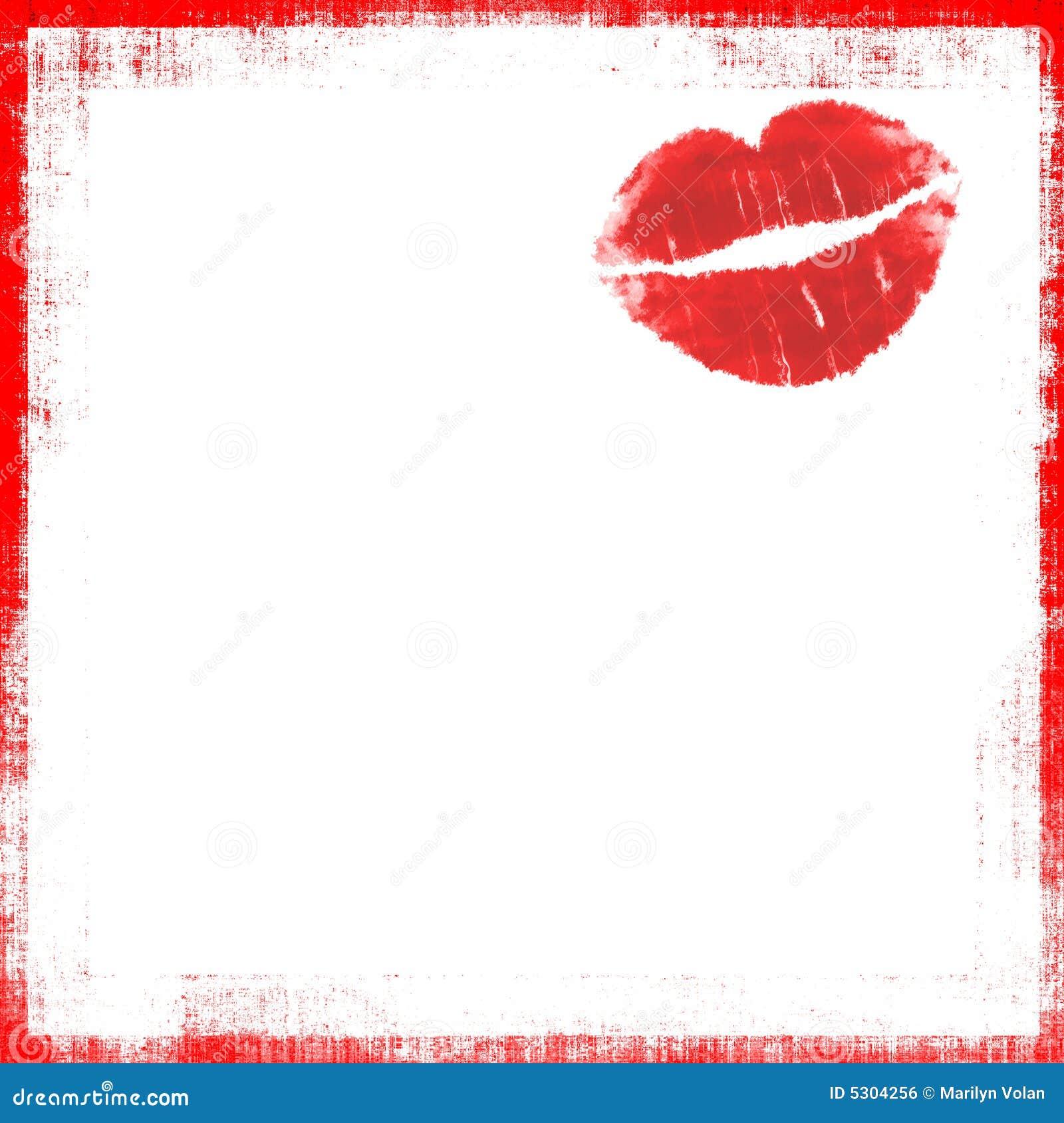 Download Bacio Grunge del rossetto illustrazione di stock. Illustrazione di illustrazione - 5304256